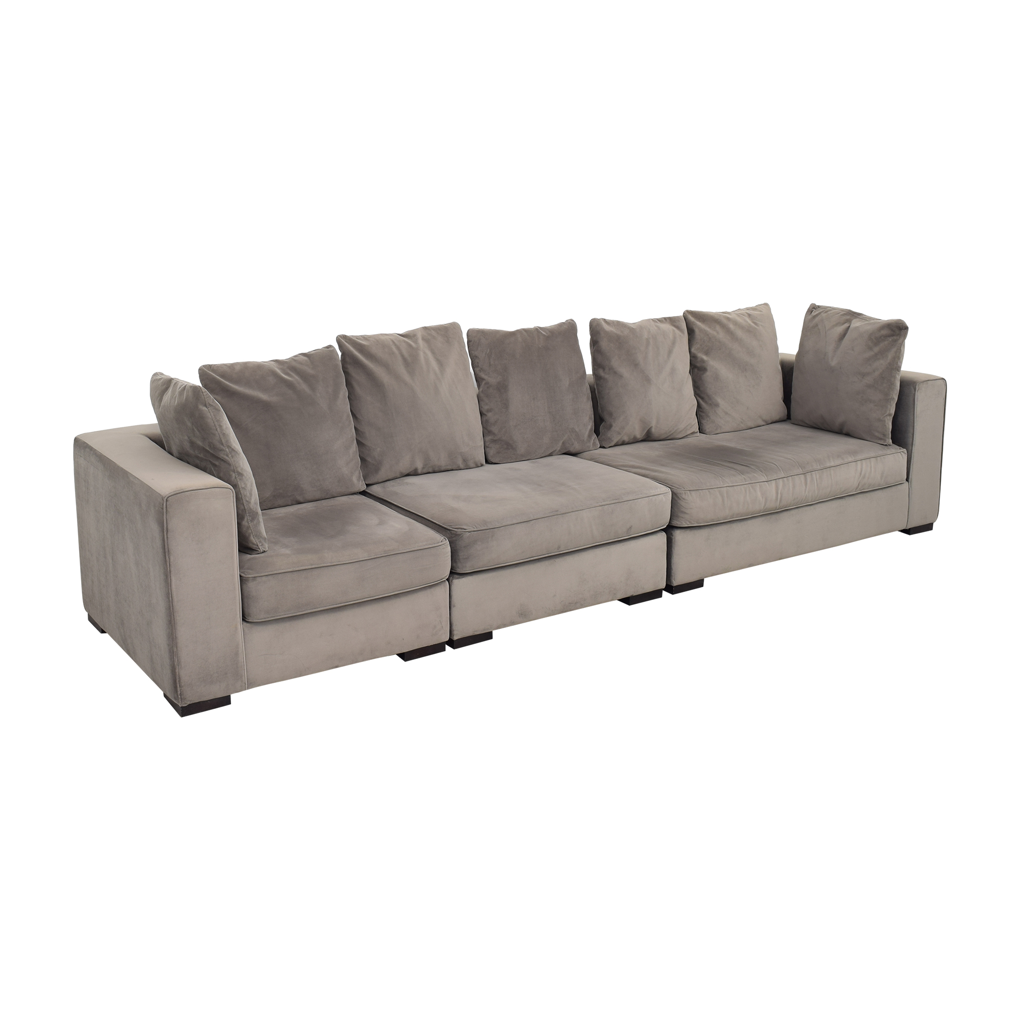 West Elm West Elm 3-Piece Sectional with Ottoman ma