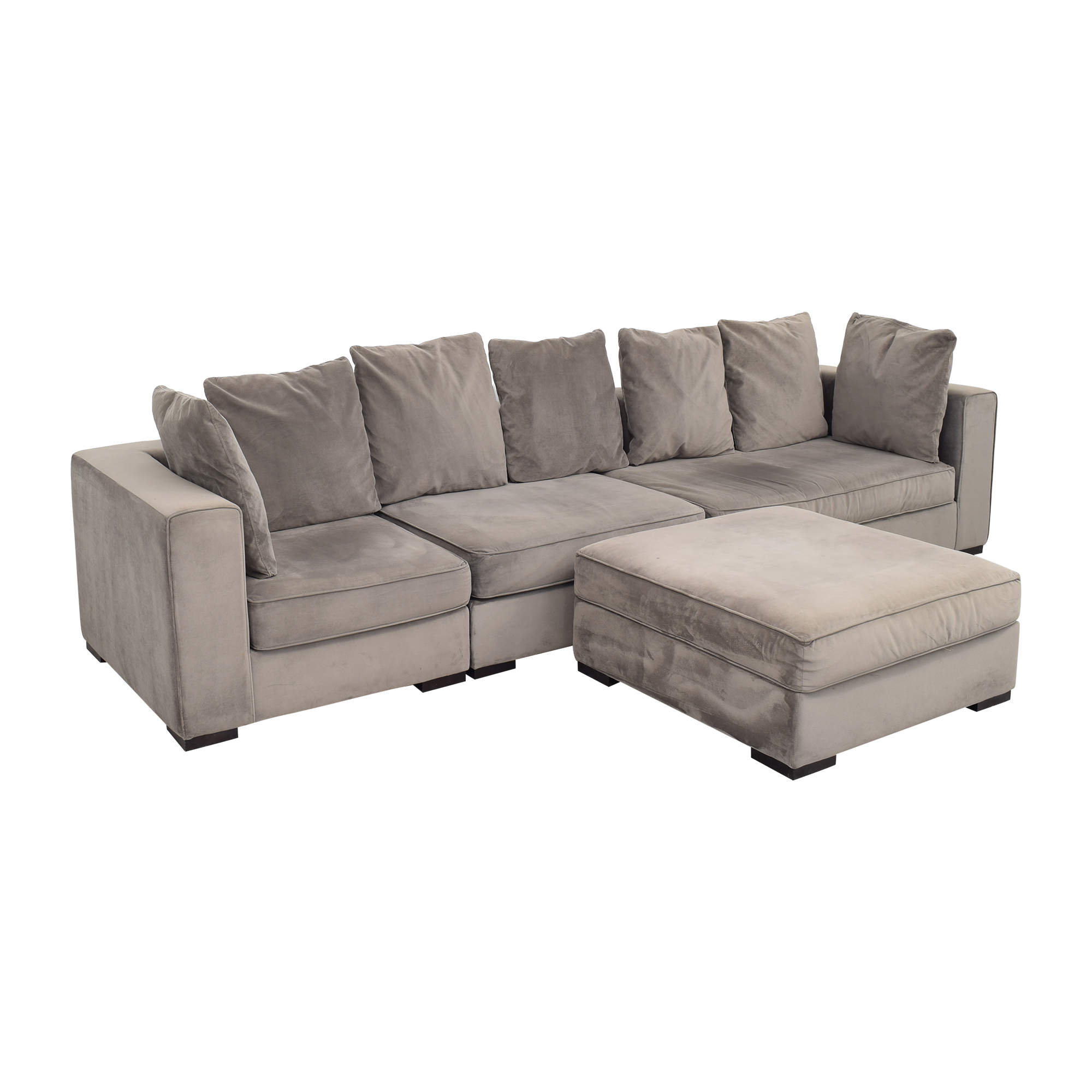buy West Elm 3-Piece Sectional with Ottoman West Elm