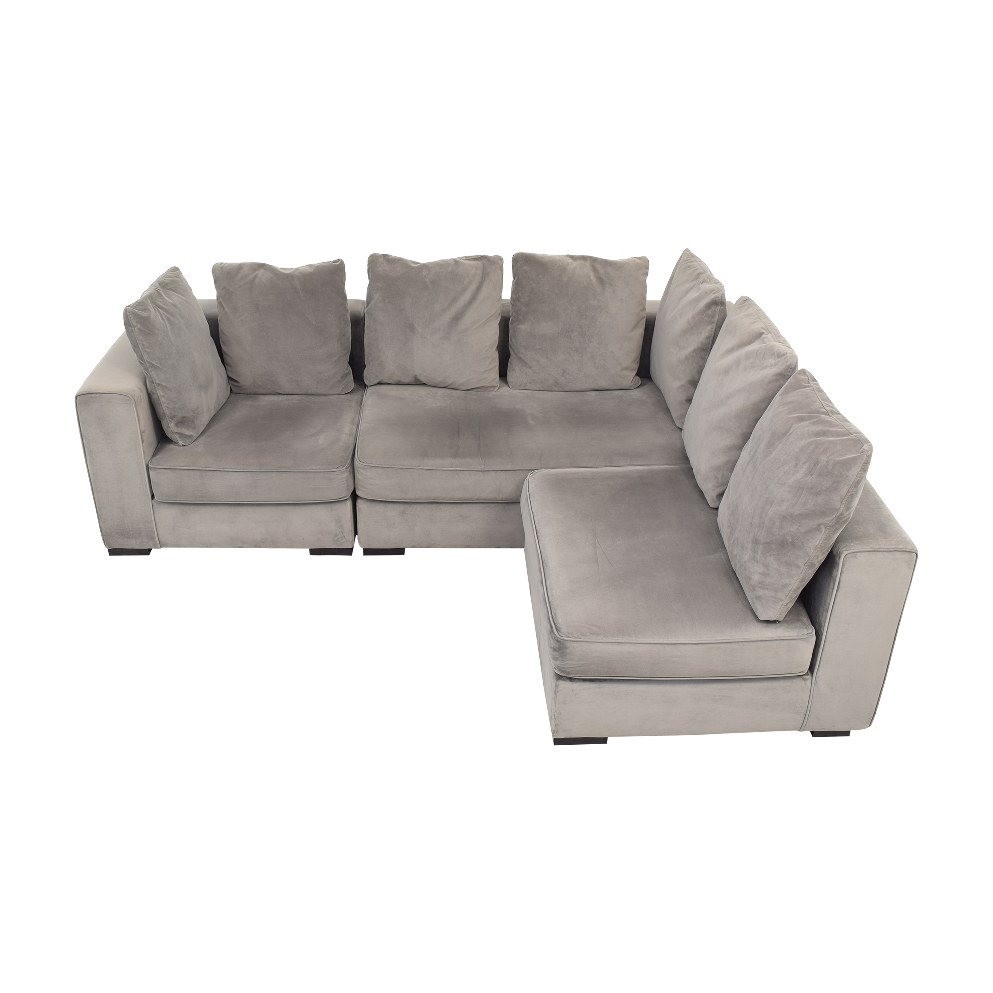 West Elm West Elm 3-Piece Sectional with Ottoman on sale