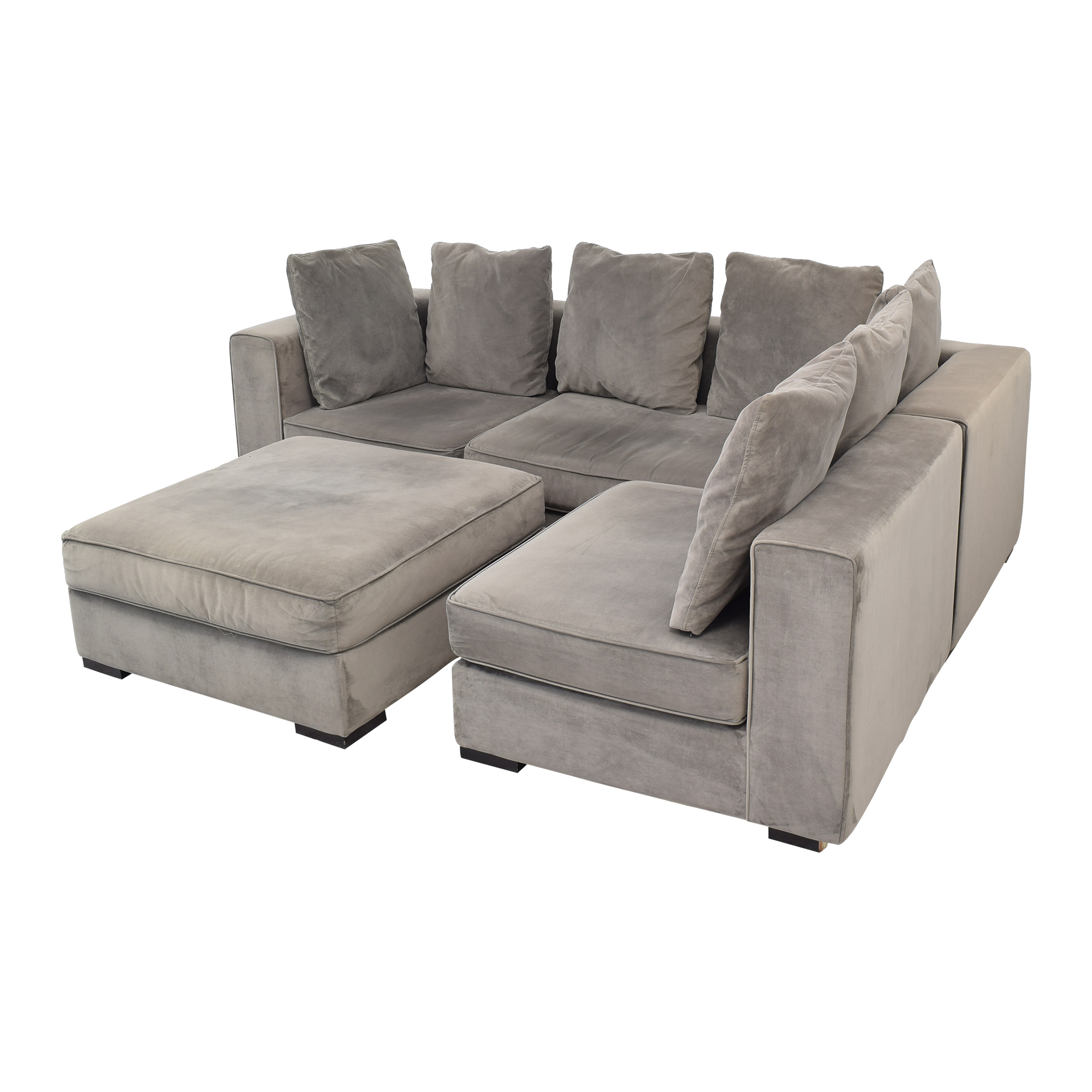West Elm West Elm 3-Piece Sectional with Ottoman Sectionals