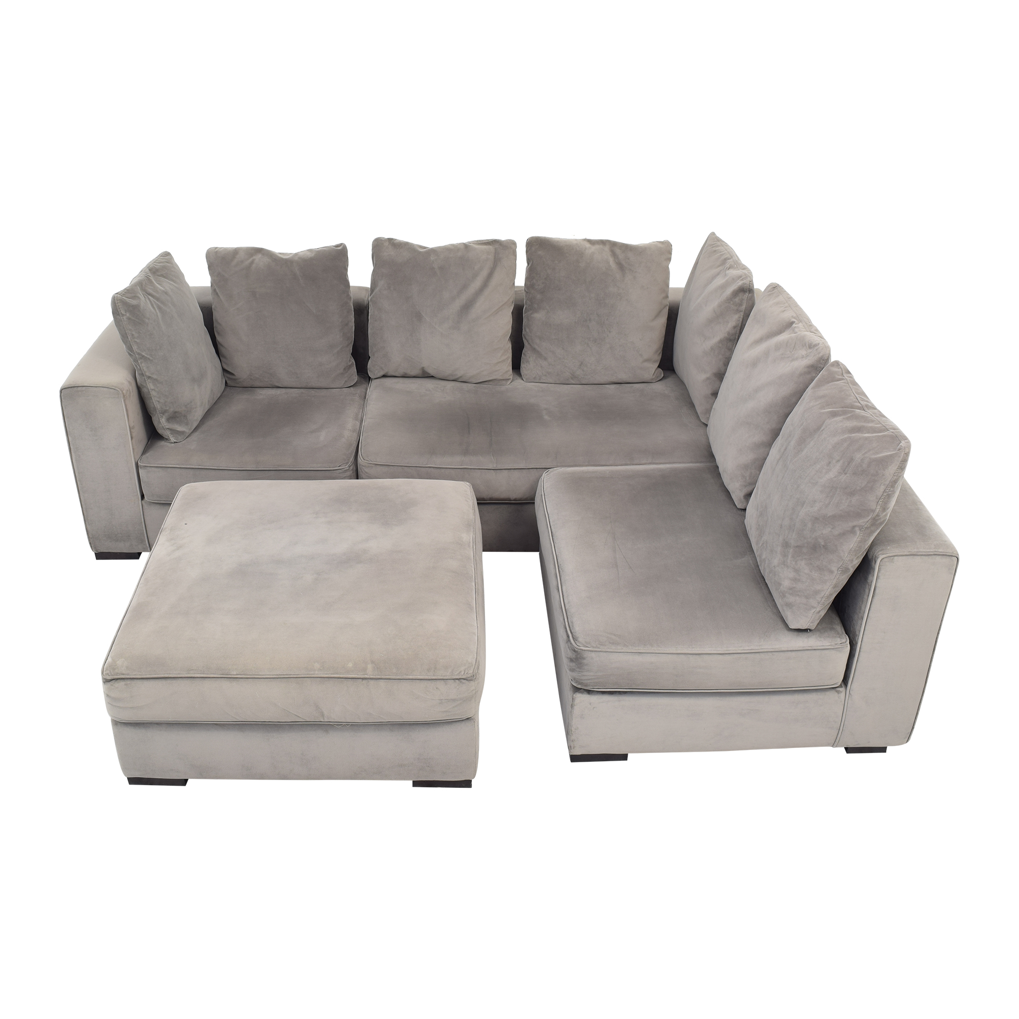 West Elm West Elm 3-Piece Sectional with Ottoman used
