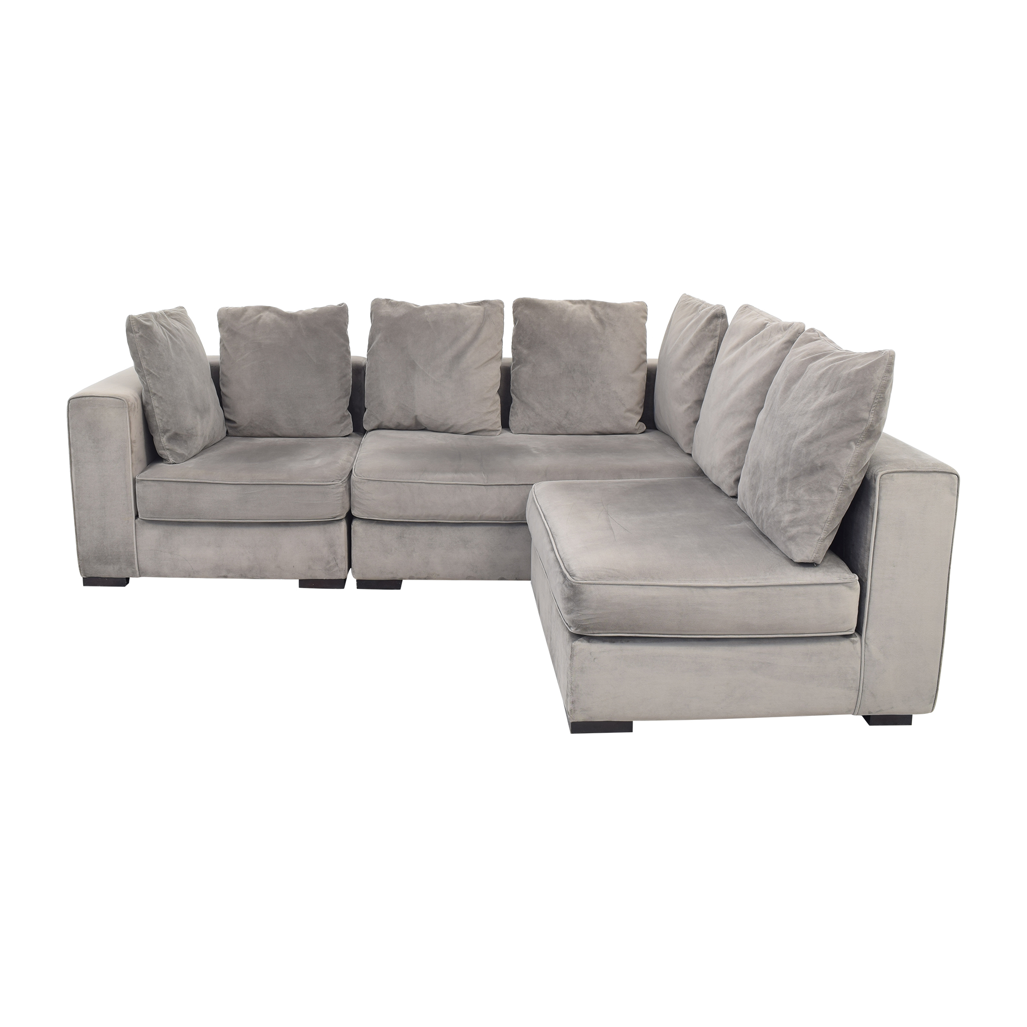 West Elm 3-Piece Sectional with Ottoman / Sectionals