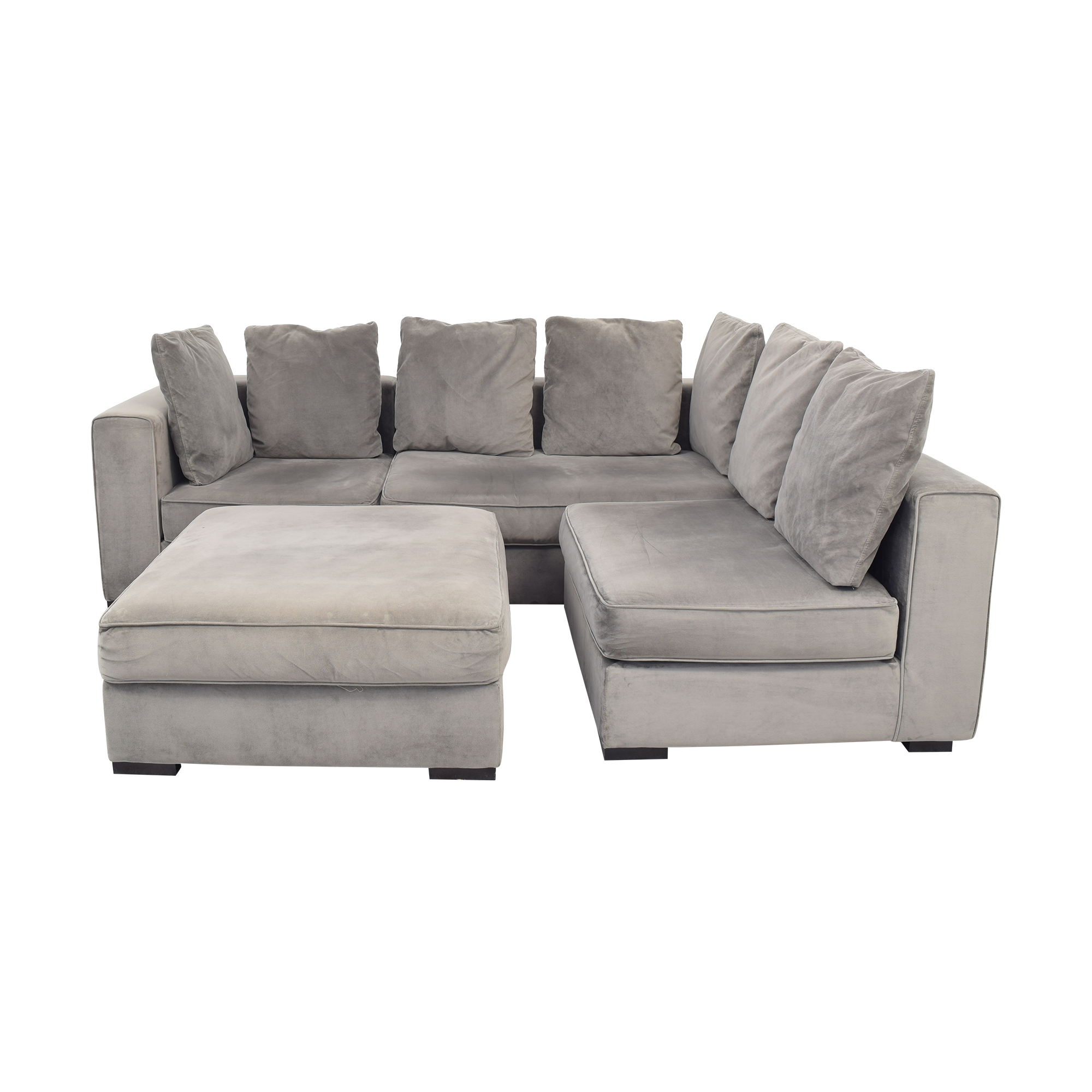 West Elm West Elm 3-Piece Sectional with Ottoman grey