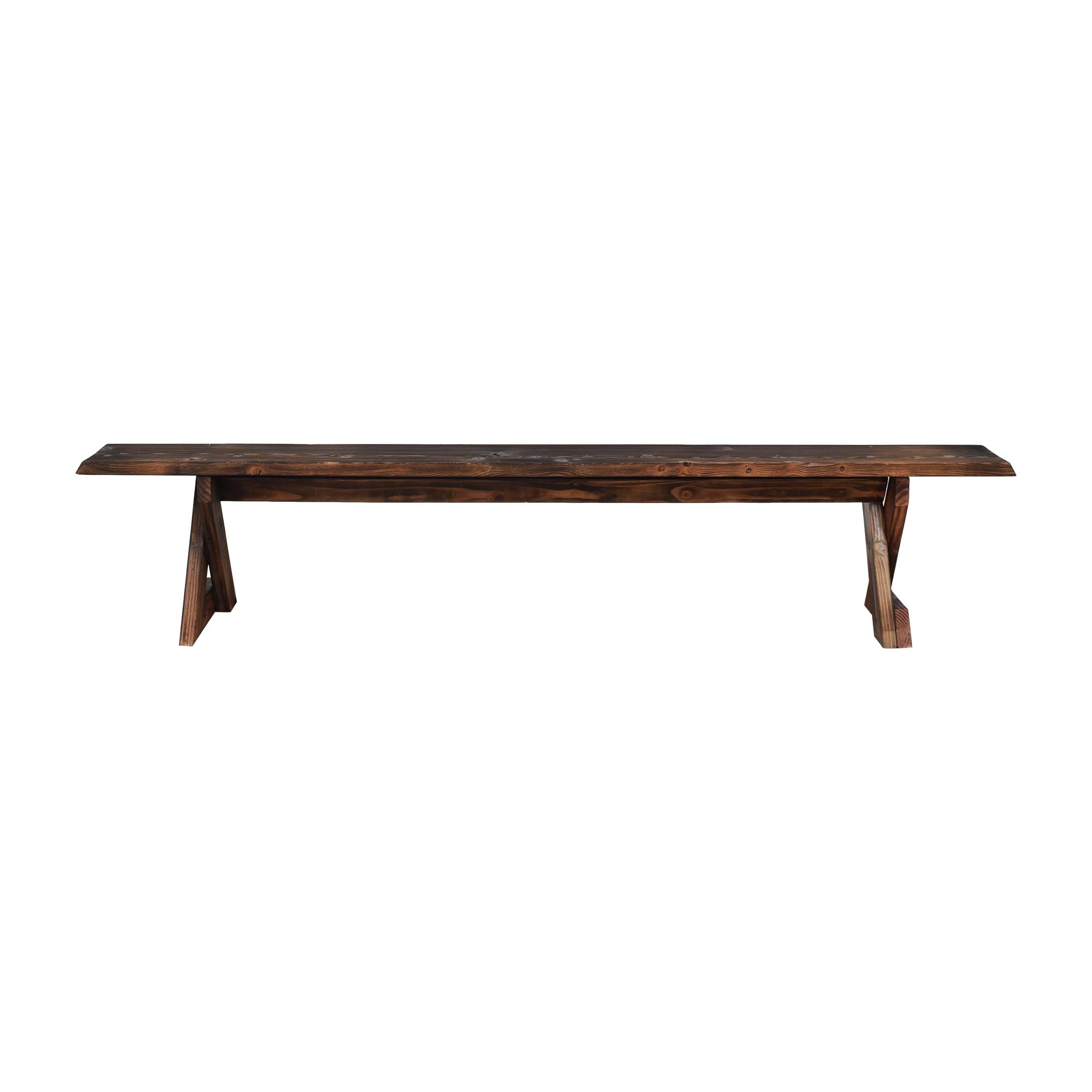 Shou Sugi Ban Style Bench nj