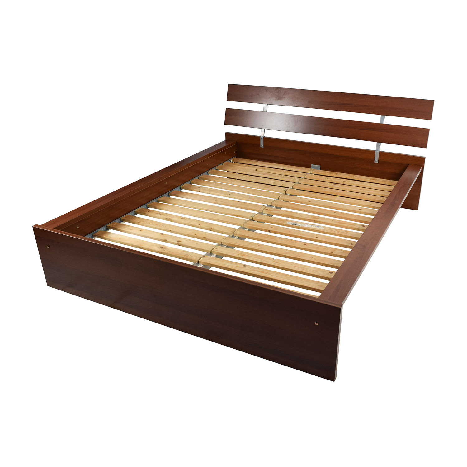 64 off ikea ikea brown queen bed frame beds for Ikea mattress frame