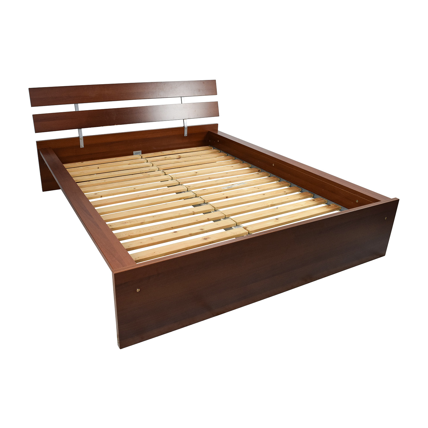 64 Off Ikea Ikea Brown Queen Bed Frame Beds