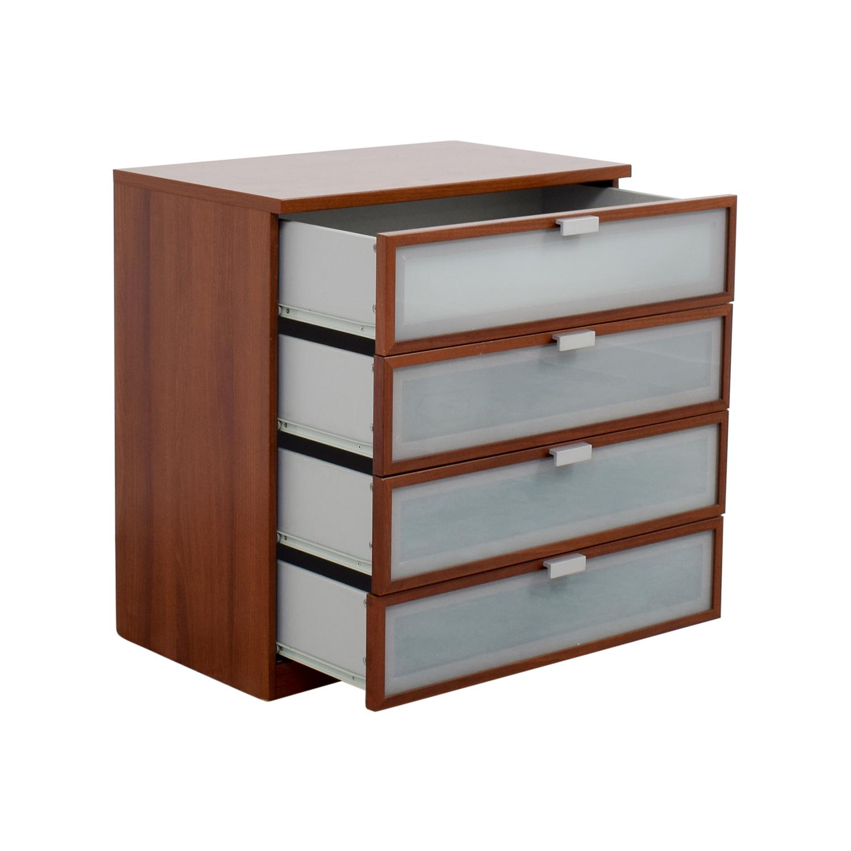Off ikea medium brown four drawer dresser storage