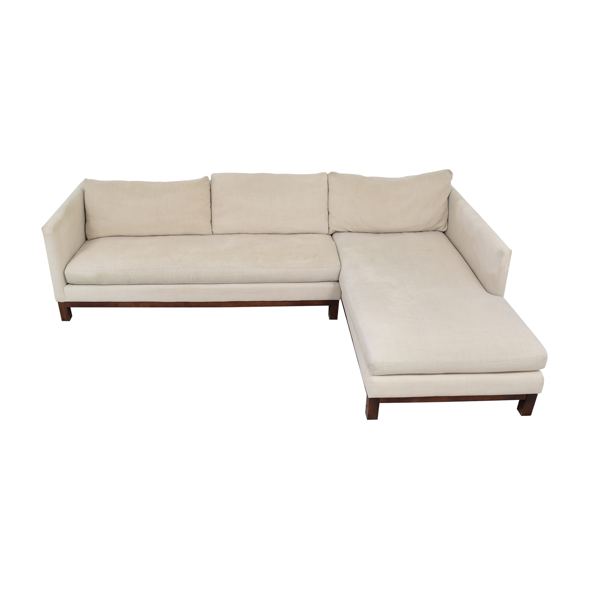 ABC Carpet & Home ABC Carpet & Home Cobble Hill Sectional Sofa white