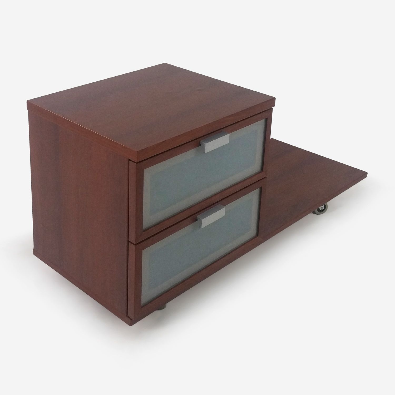 50% OFF IKEA Medium Brown Nightstand Storage