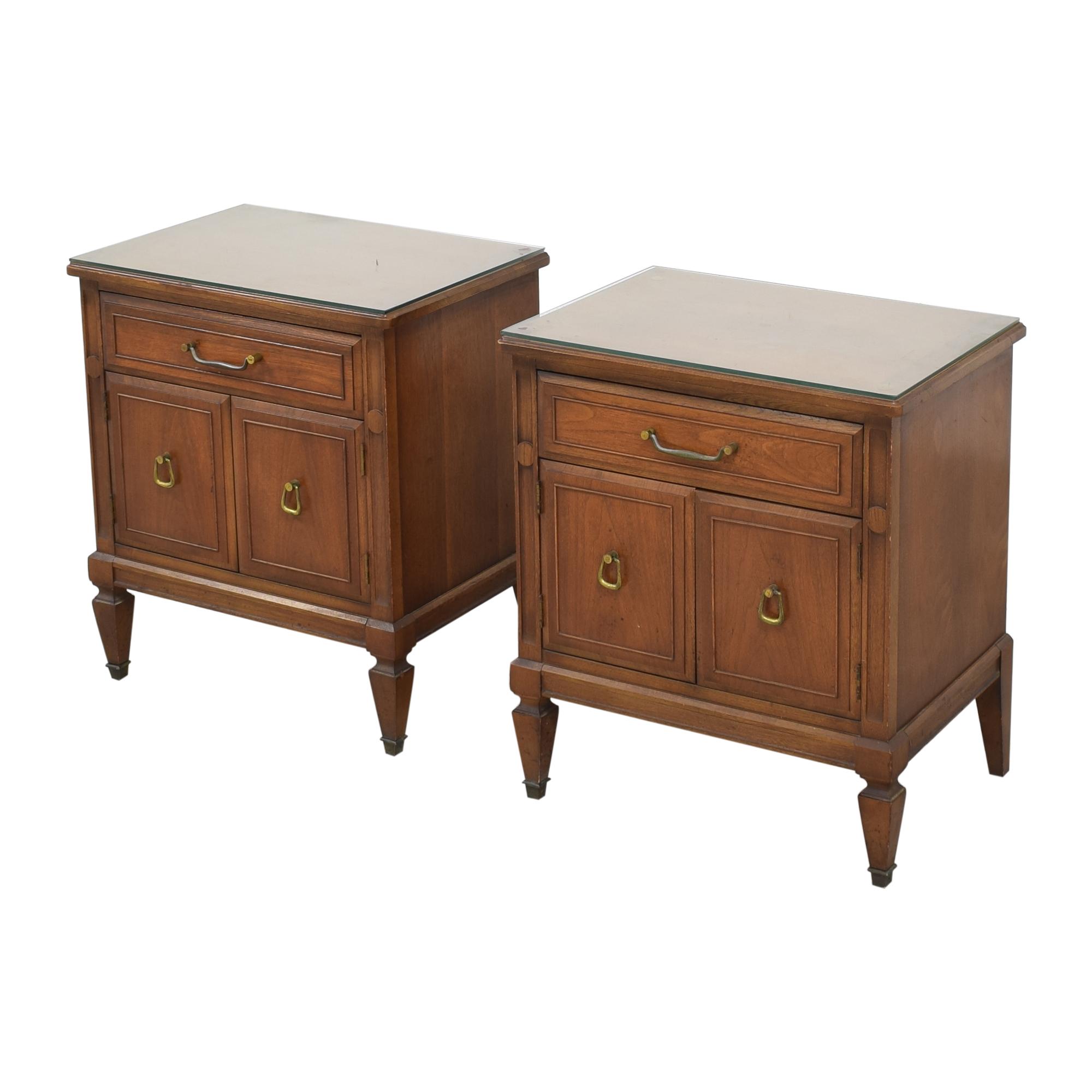 Huntley Huntley Vintage Single Drawer Nightstands discount