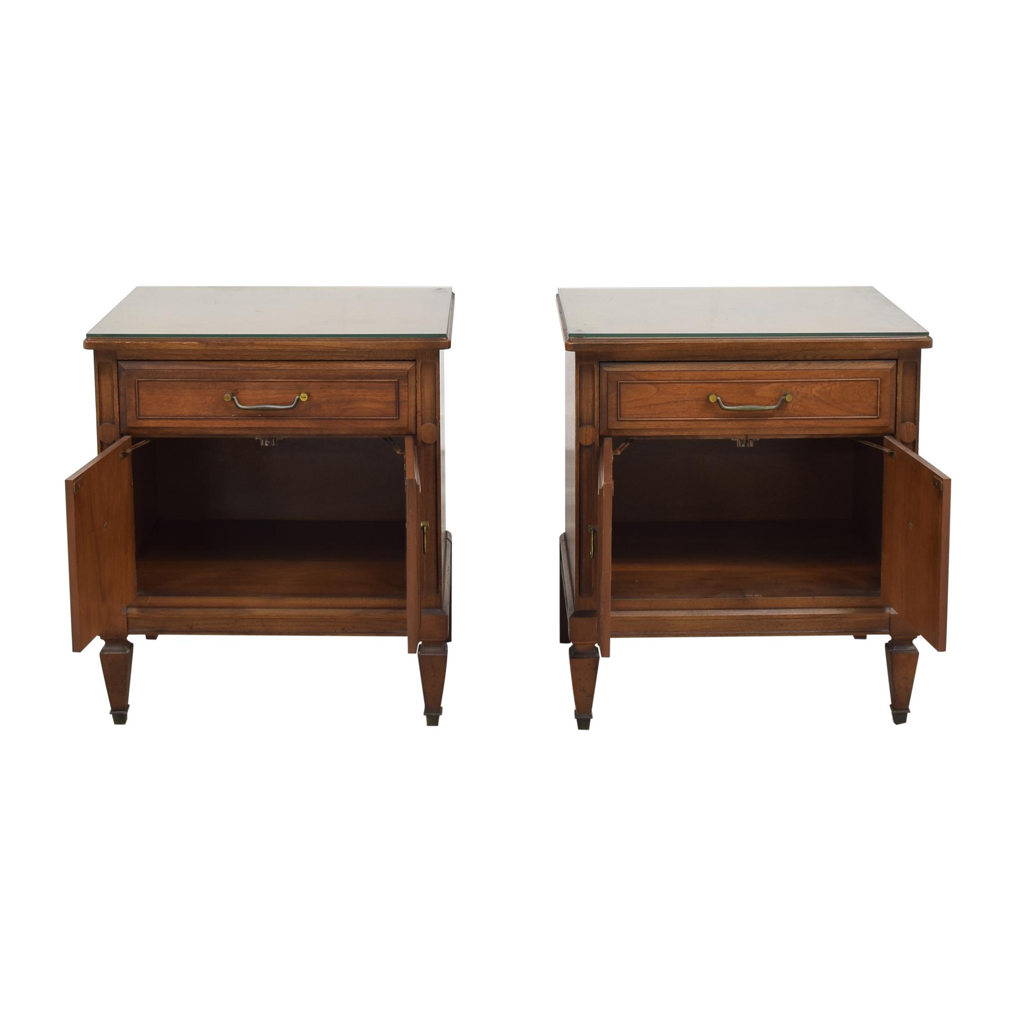 Huntley Vintage Single Drawer Nightstands / End Tables