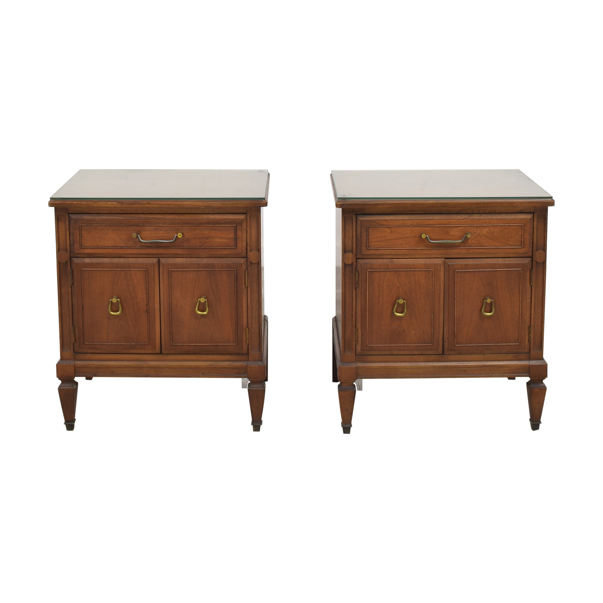 Huntley Huntley Vintage Single Drawer Nightstands discount