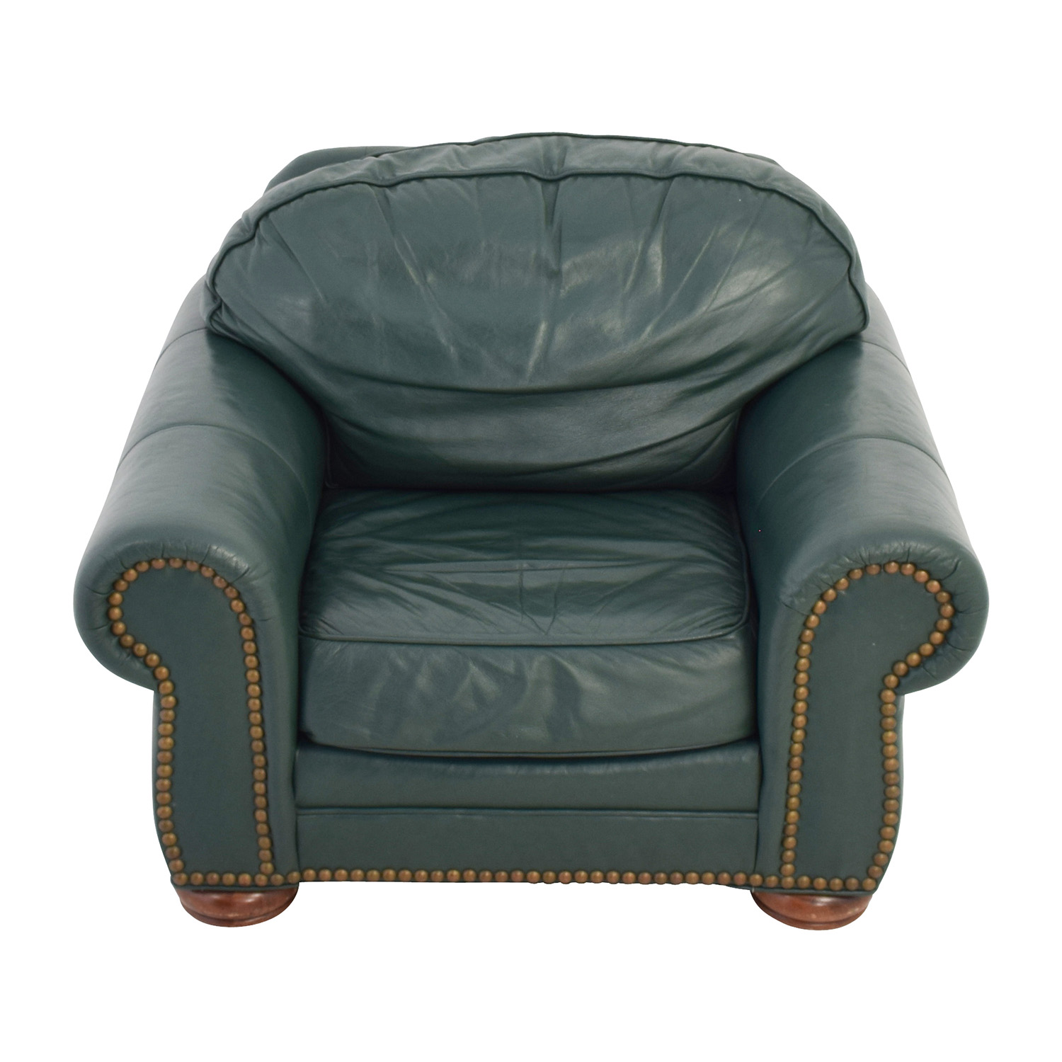 buy Clayton Marcus Oversized Green Leather Chair Clayton Marcus