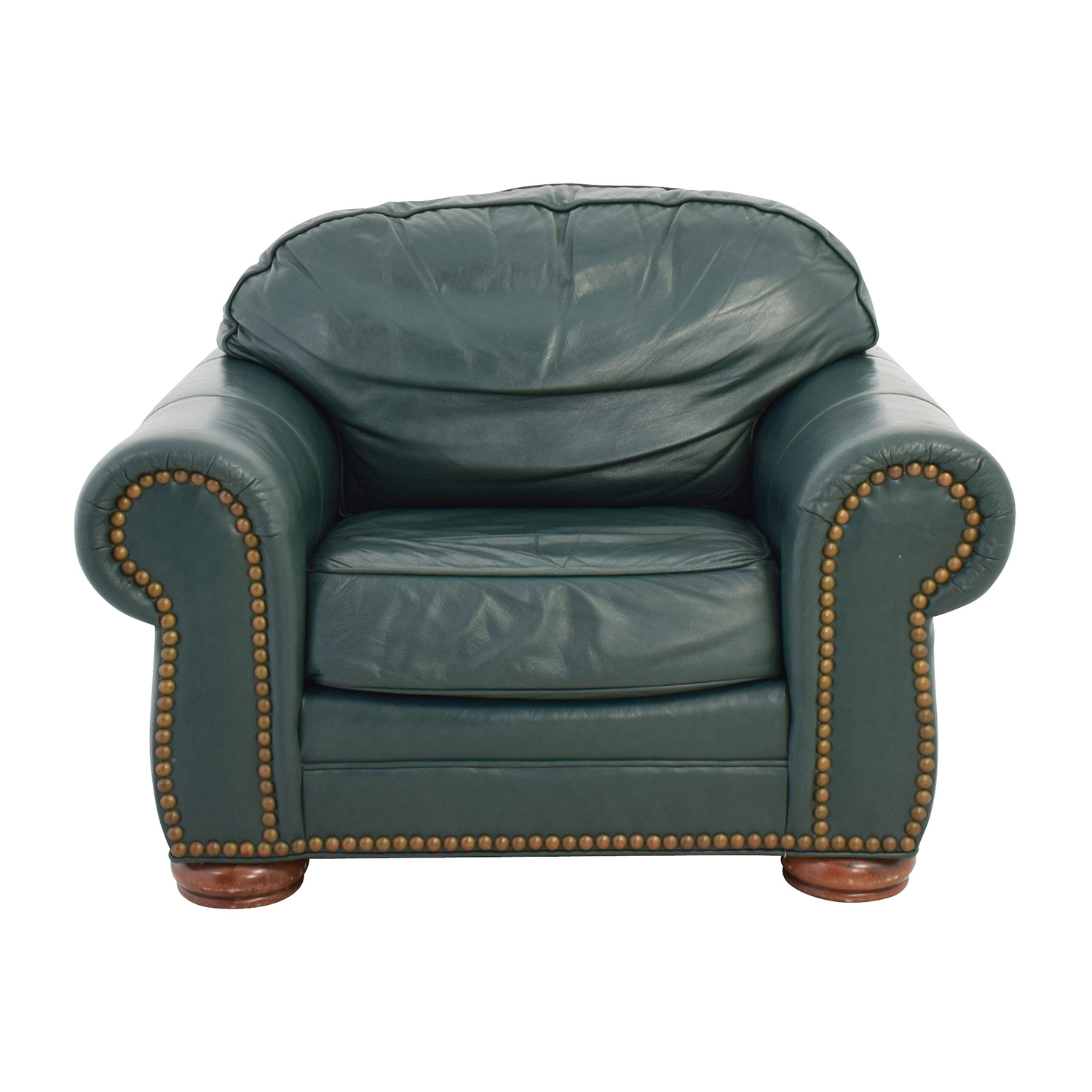 buy Clayton Marcus Oversized Green Leather Chair Clayton Marcus Accent Chairs