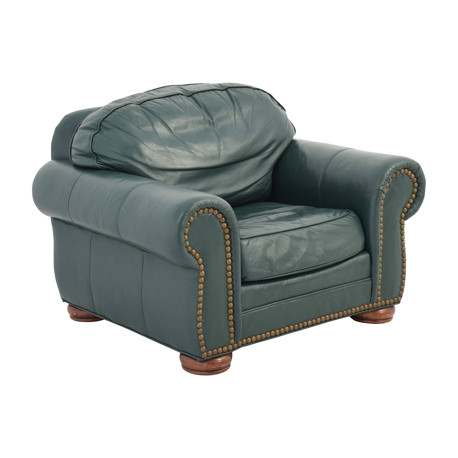 Nice ... Clayton Marcus Clayton Marcus Oversized Green Leather Chair Nj ...
