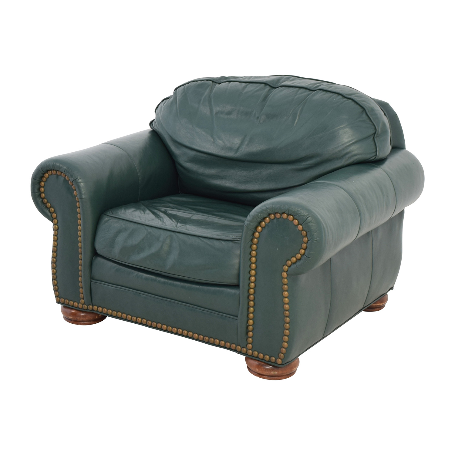 ... Clayton Marcus Oversized Green Leather Chair / Accent Chairs ...