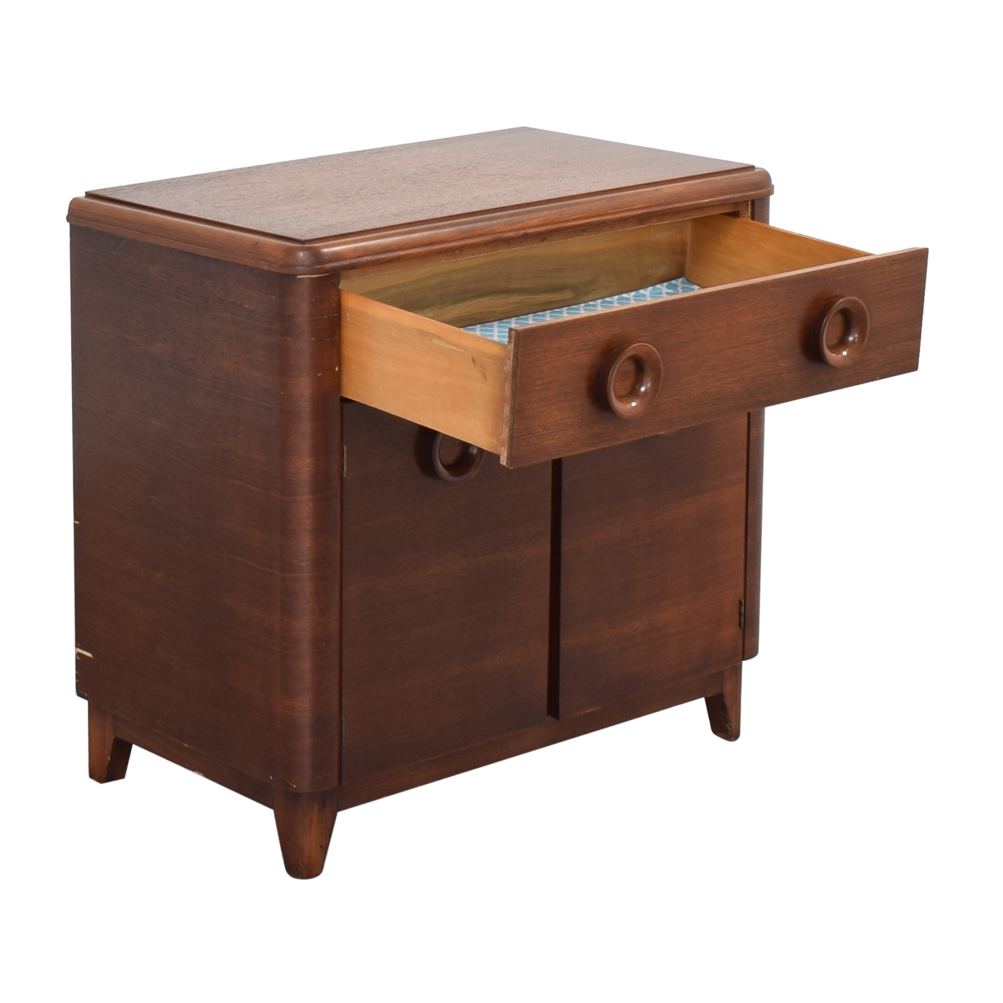 Vintage Mid Century Cabinet Nightstand / End Tables