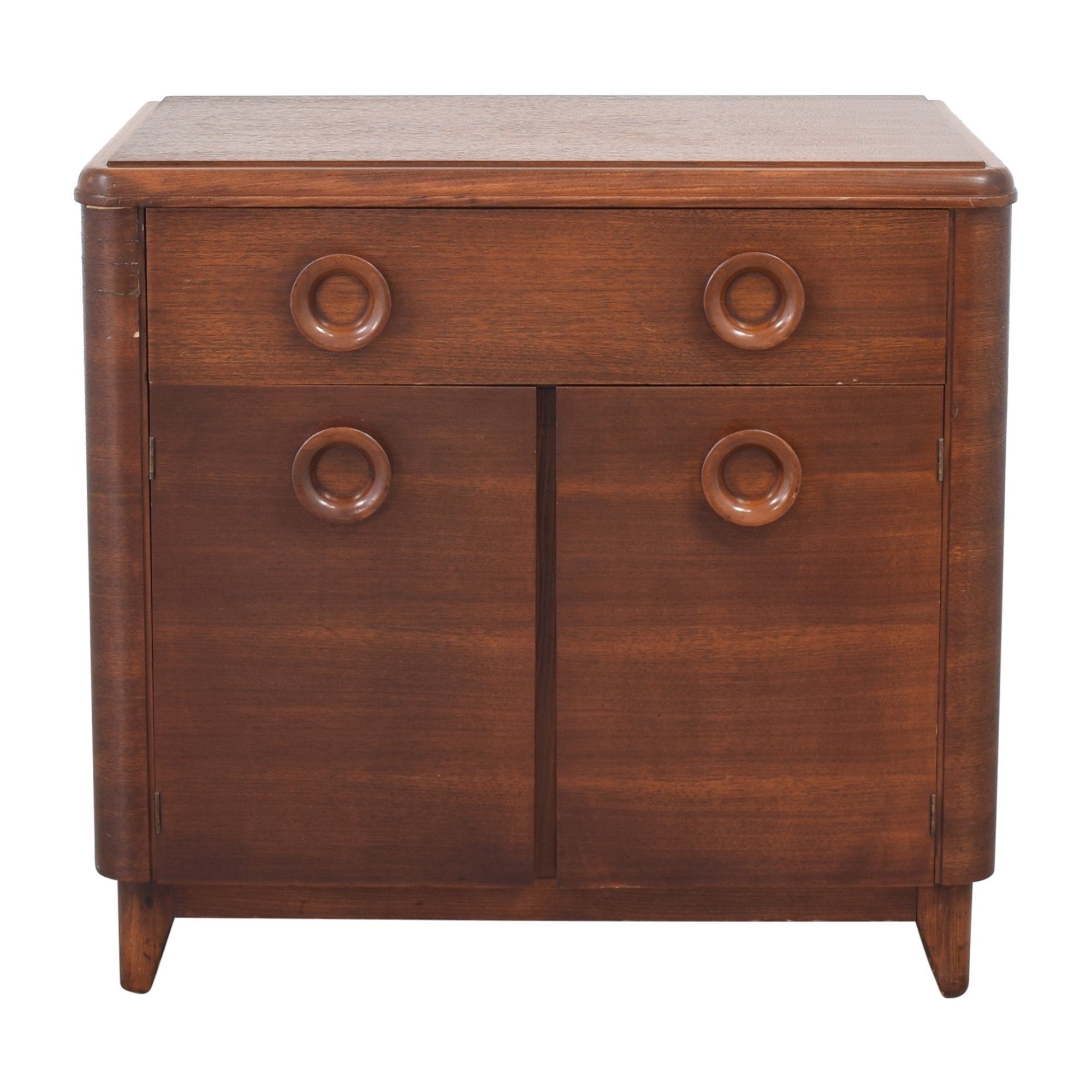 Vintage Mid Century Cabinet Nightstand End Tables