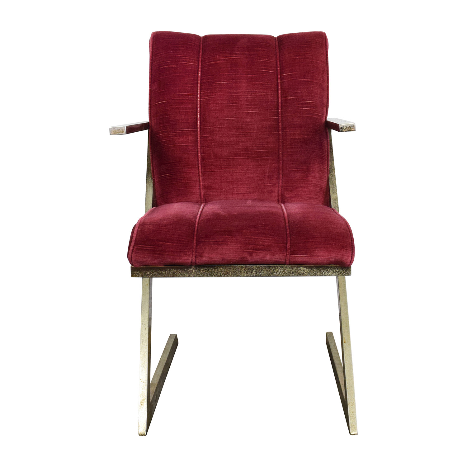 buy Vintage Plush Burgundy Velvet Chair Chairs