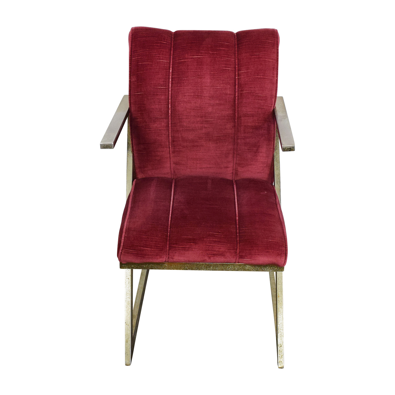 Vintage Plush Burgundy Velvet Chair / Sofas