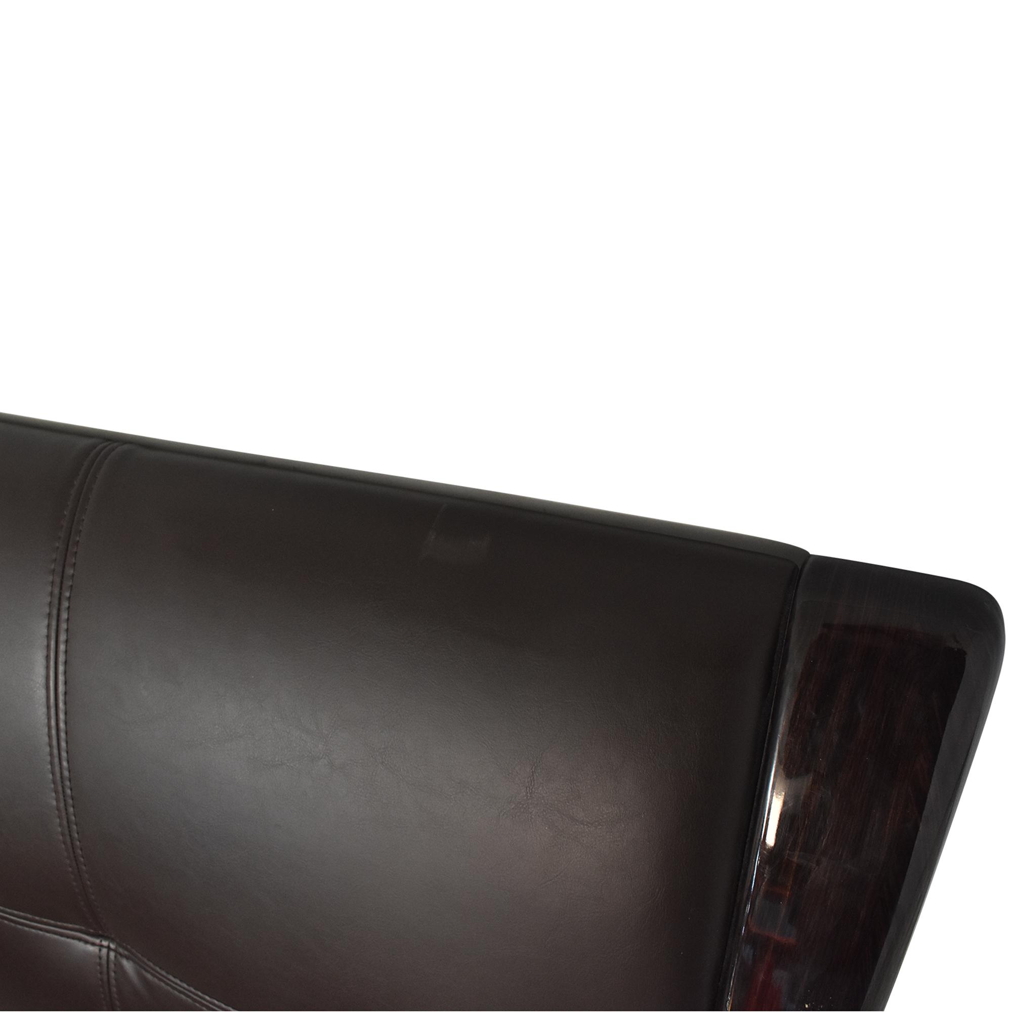 American Eagle Furniture American Eagle Queen Platform Bed dark brown