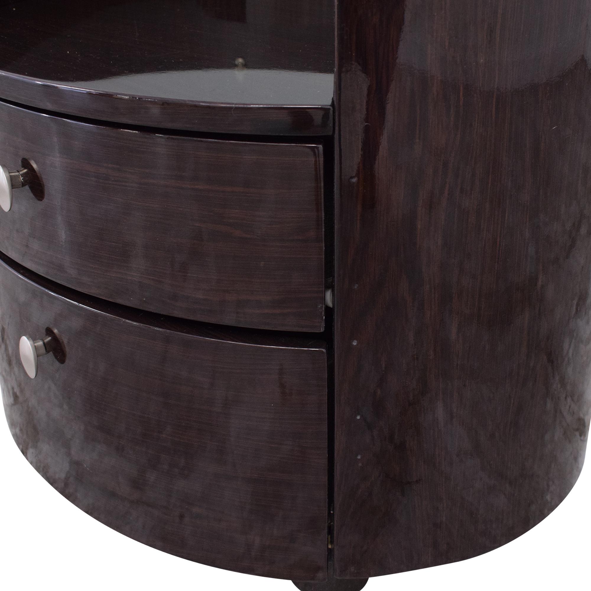 shop American Eagle Furniture Oval Nightstand American Eagle Furniture