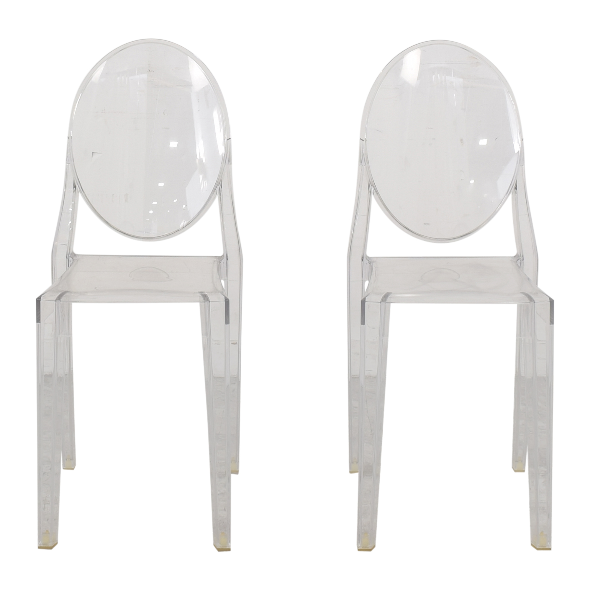 Kartell Philippe Starck for Kartell Victoria Ghost Chairs clear