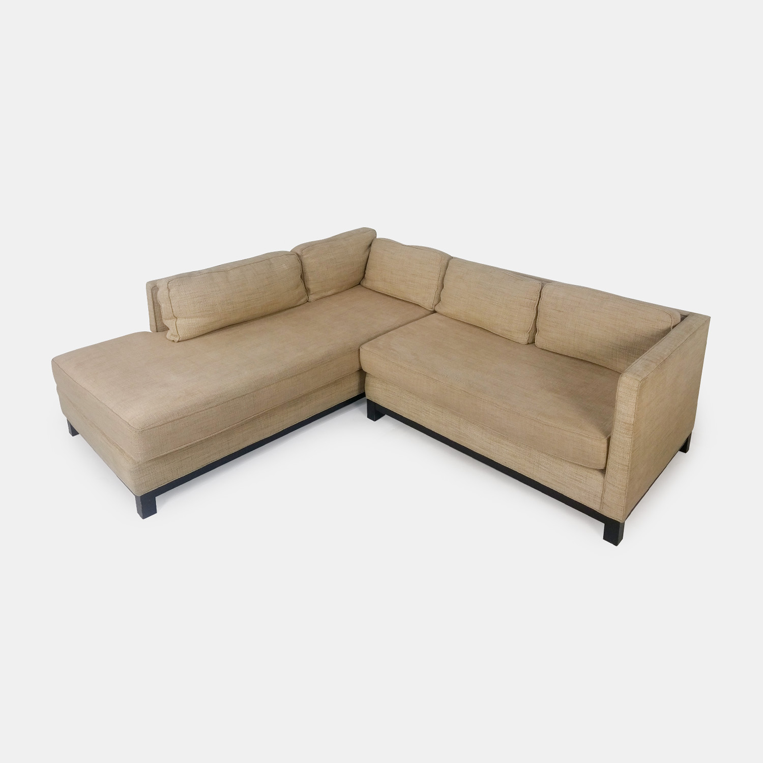 shop Mitchell Gold Beige Sectional Mitchell Gold