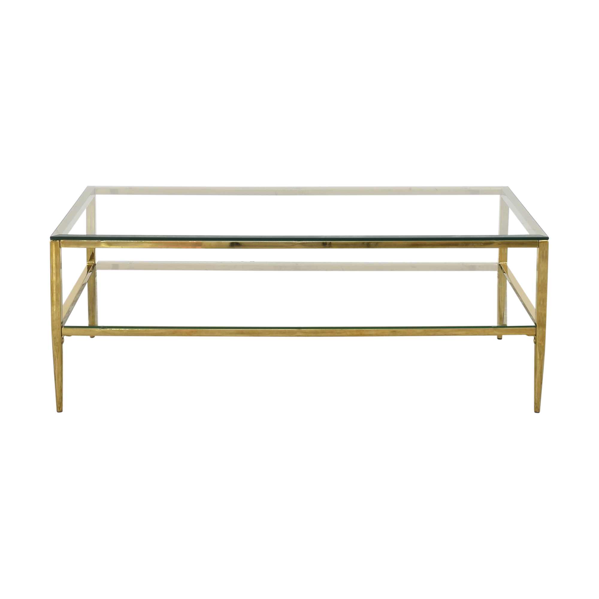 Two Tier Glass Coffee Table ct