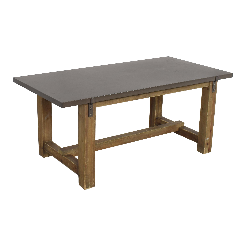 Restoration Hardware Restoration Hardware Reclaimed Wood & Zinc-Top Rectangular Dining Table Tables