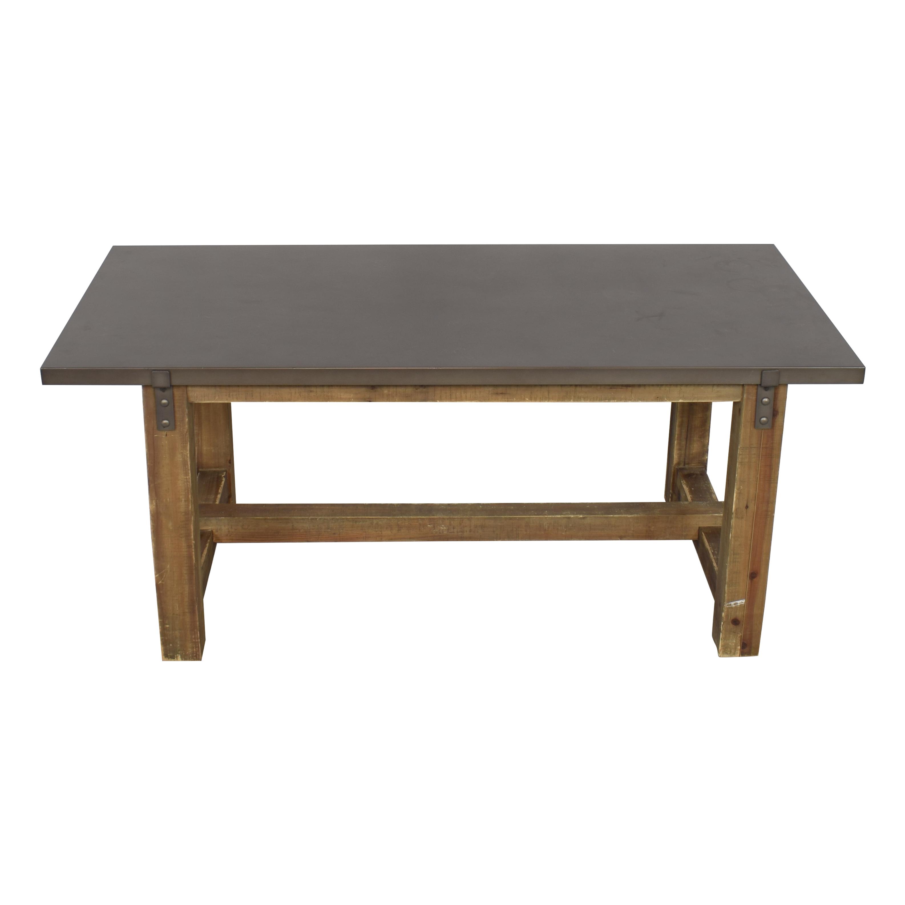 Restoration Hardware Restoration Hardware Reclaimed Wood & Zinc-Top Rectangular Dining Table