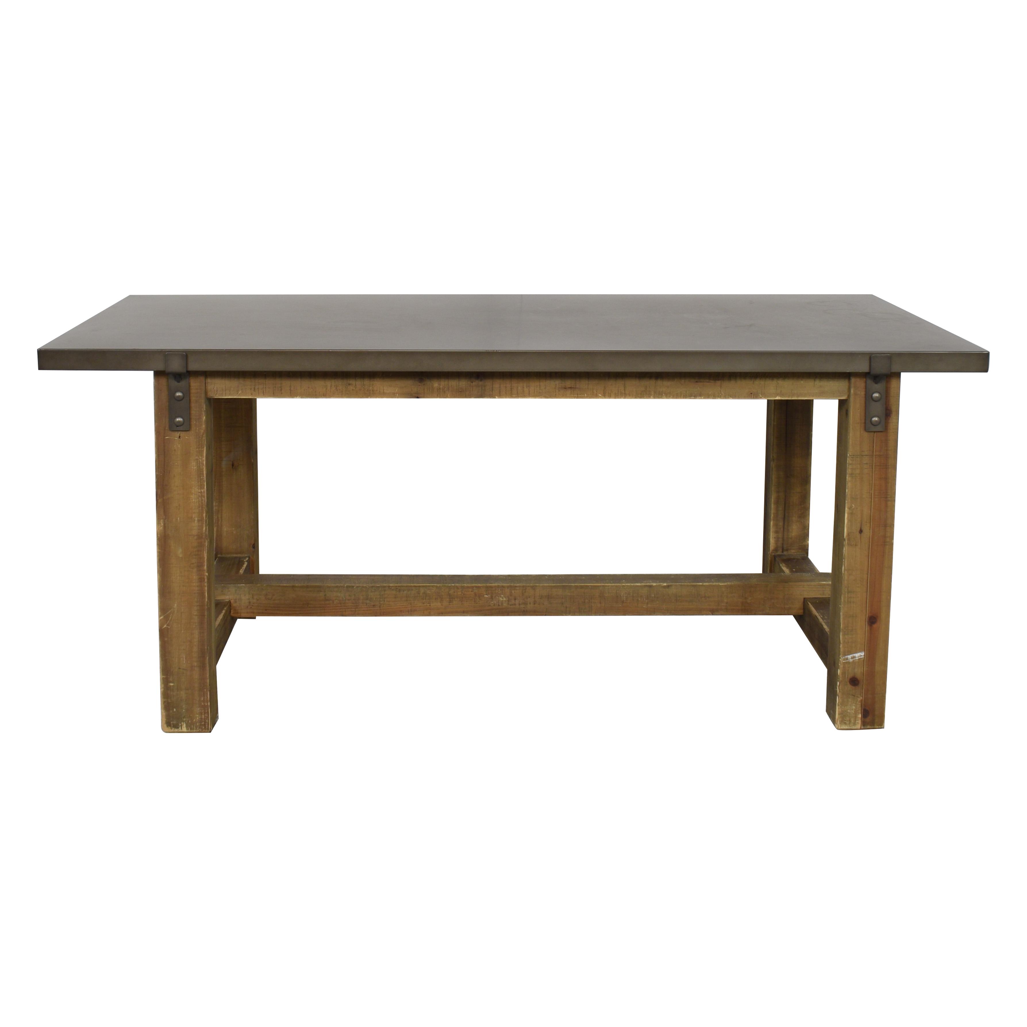 Restoration Hardware Restoration Hardware Reclaimed Wood & Zinc-Top Rectangular Dining Table coupon