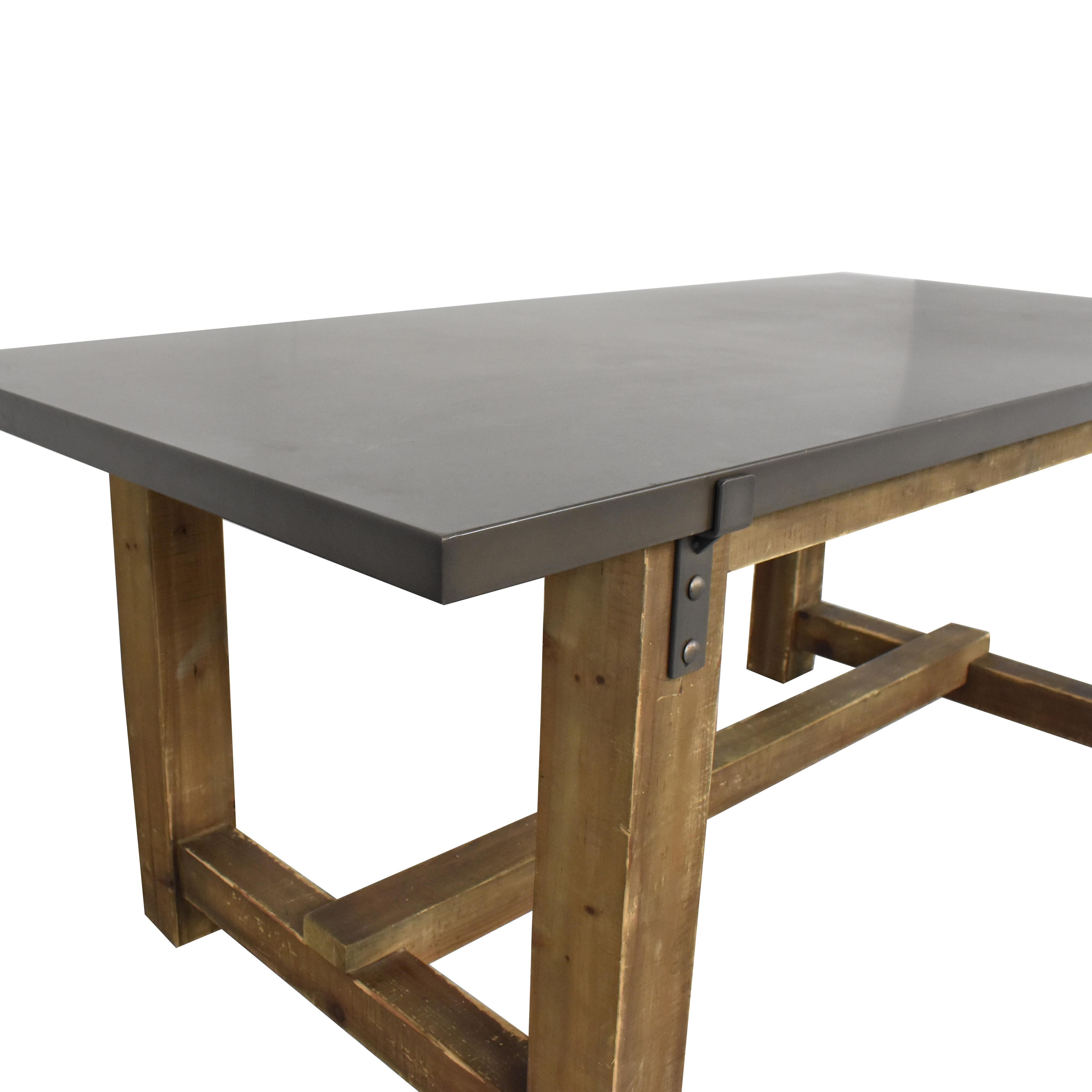 Restoration Hardware Restoration Hardware Reclaimed Wood & Zinc-Top Rectangular Dining Table Dinner Tables