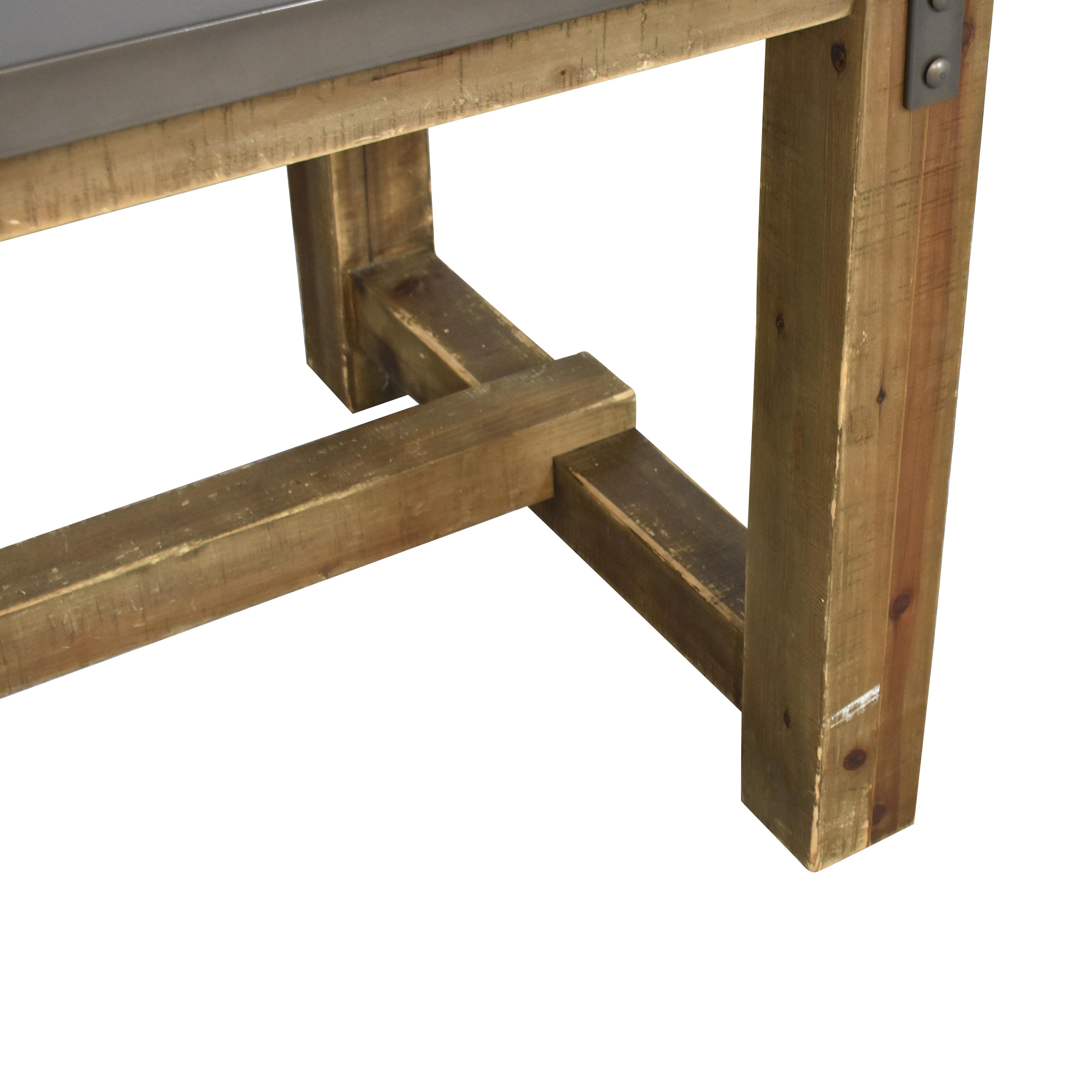 Restoration Hardware Restoration Hardware Reclaimed Wood & Zinc-Top Rectangular Dining Table brown & grey