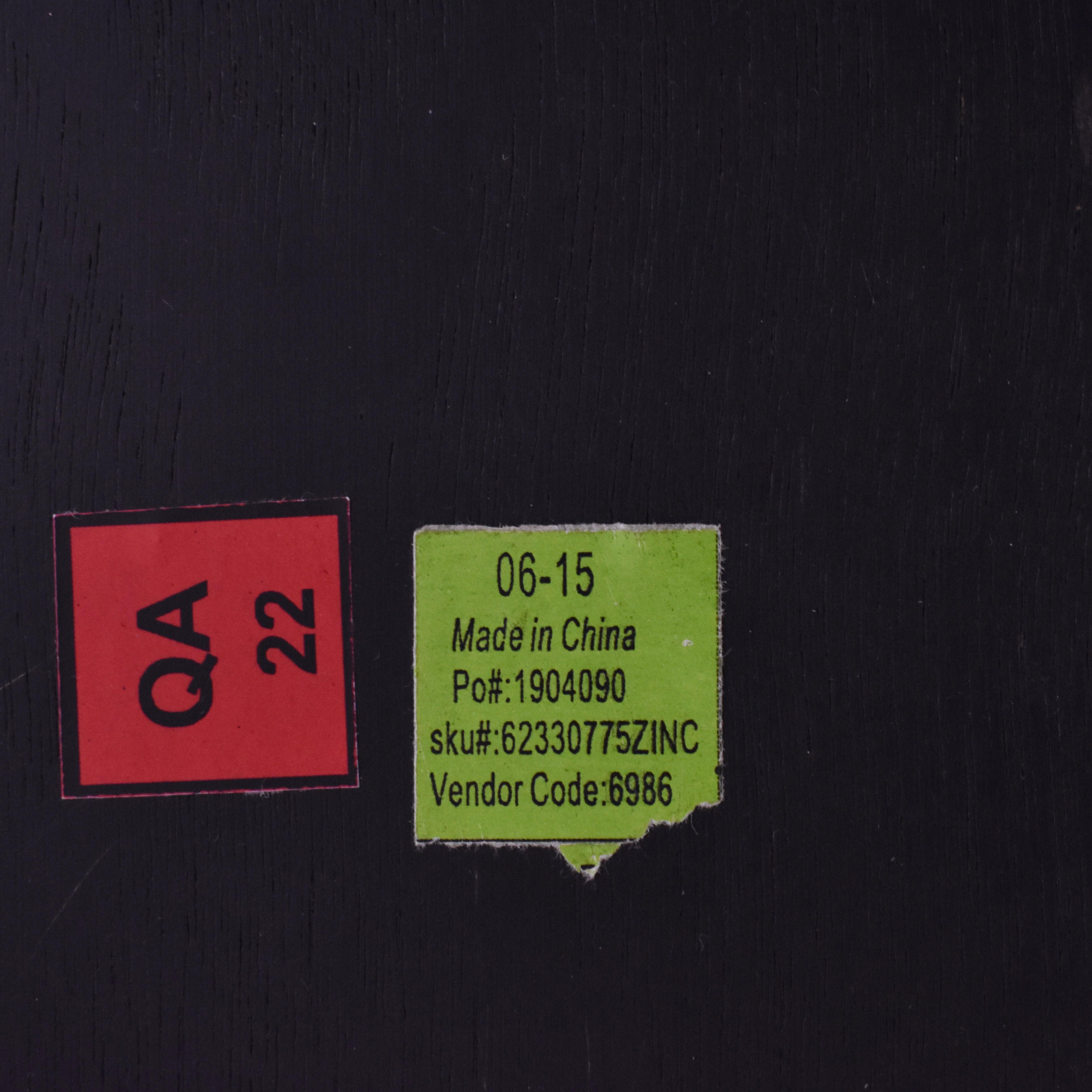 Restoration Hardware Reclaimed Wood & Zinc-Top Rectangular Dining Table / Tables