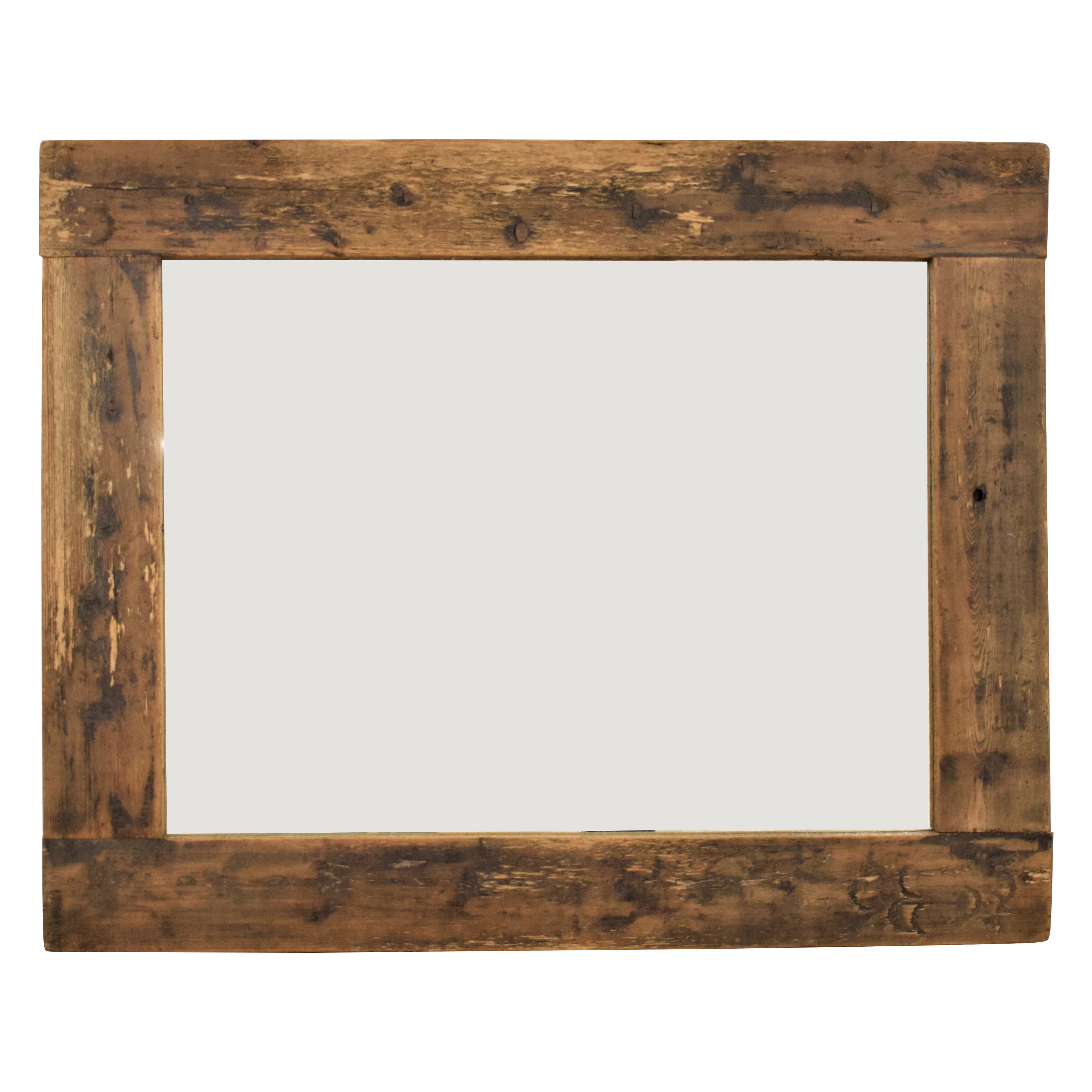 Rustic Style Framed Mirror dimensions