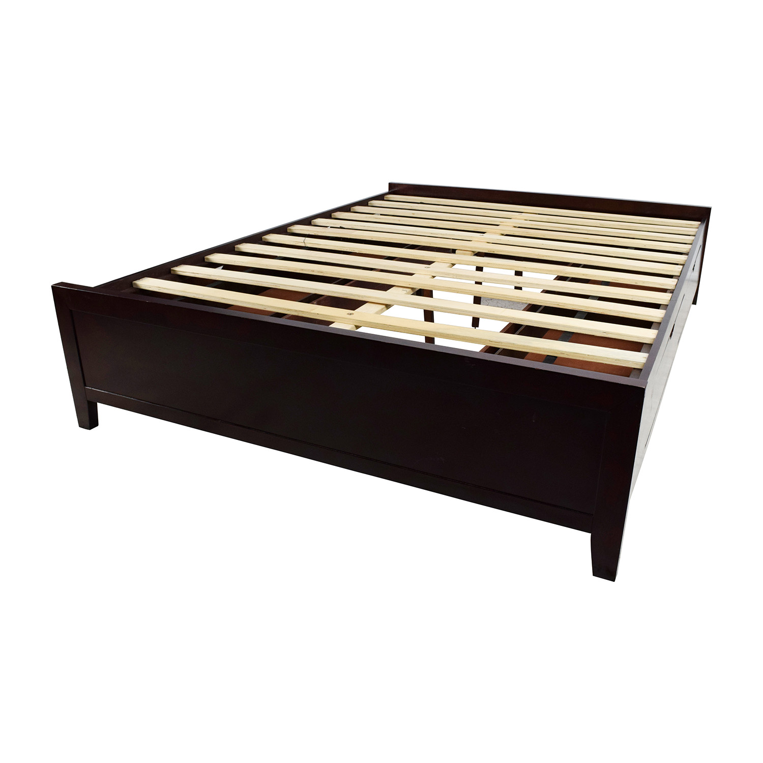 67 Off Wooden Queen Size Storage Bed Frame Beds