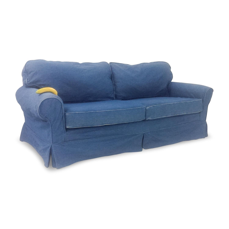 78 off blue denim couch sofas rh kaiyo com blue denim sofa bed blue denim sofa rooms to go