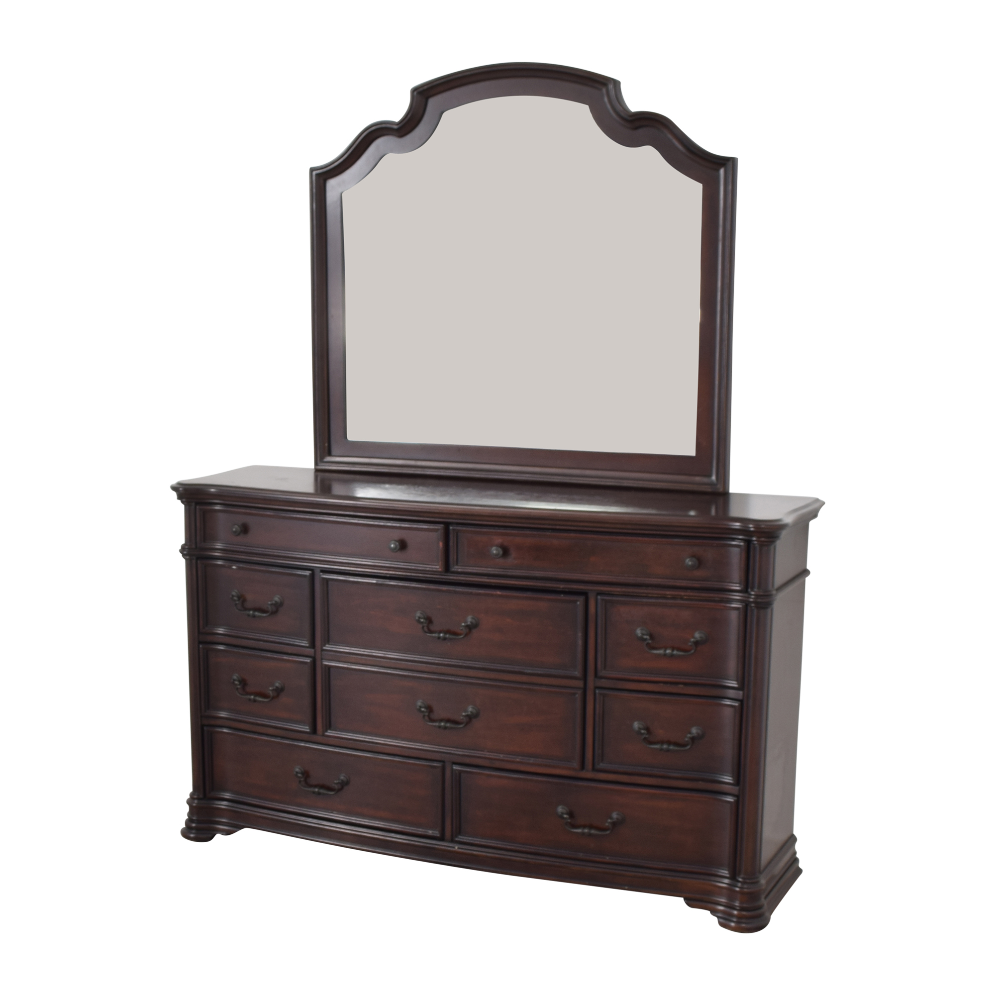 Ten Drawer Dresser and Mirror used
