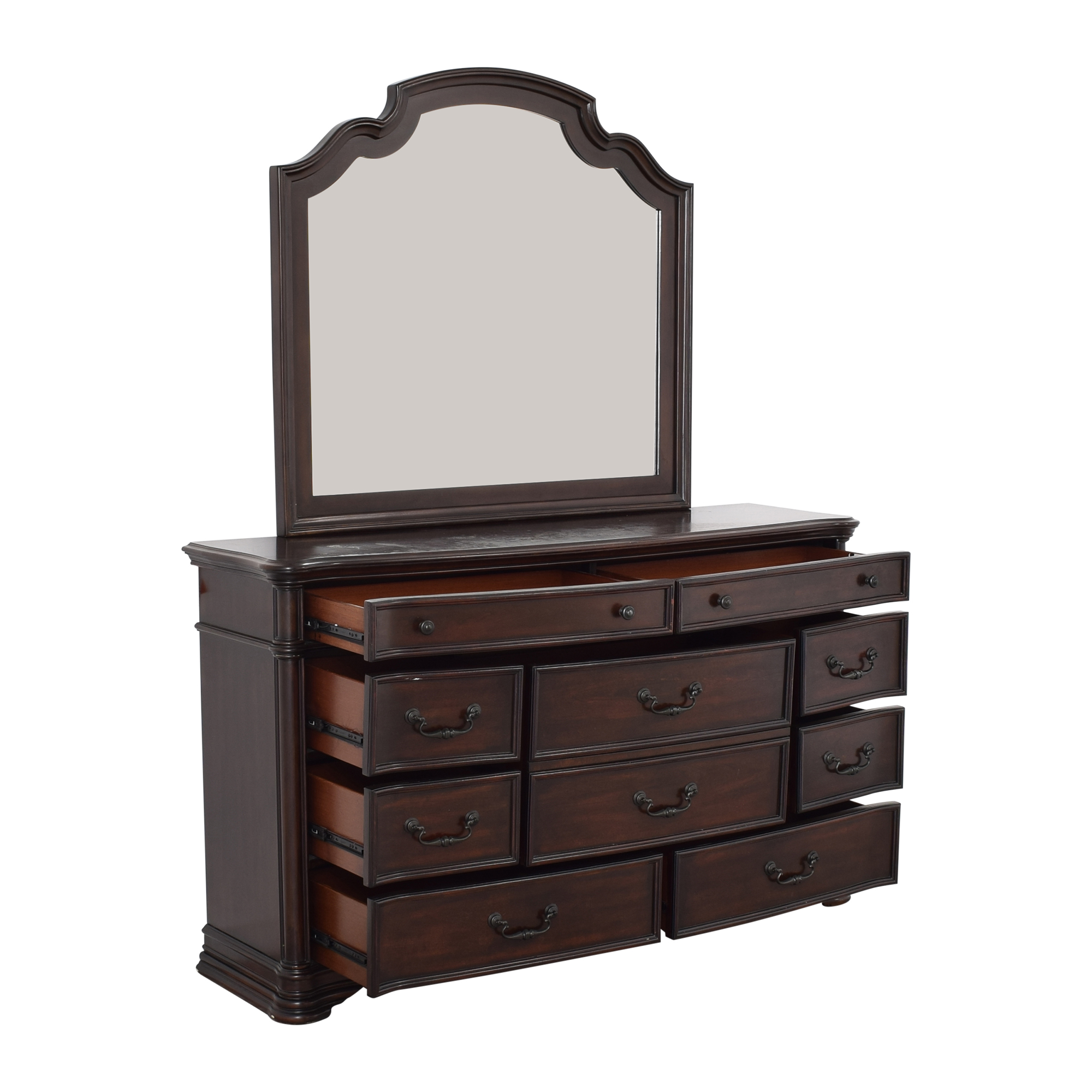 shop Ten Drawer Dresser and Mirror  Storage