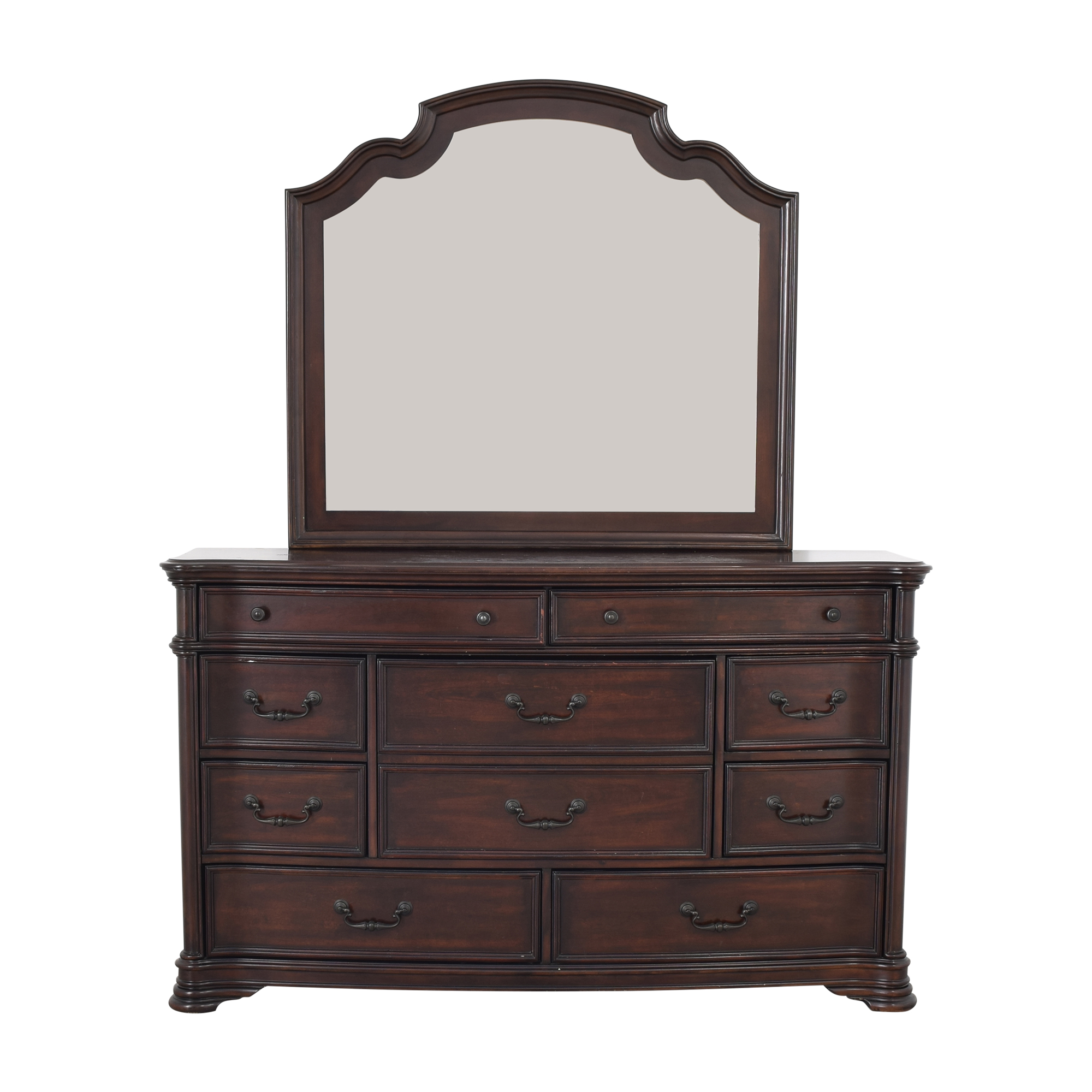 Ten Drawer Dresser and Mirror for sale