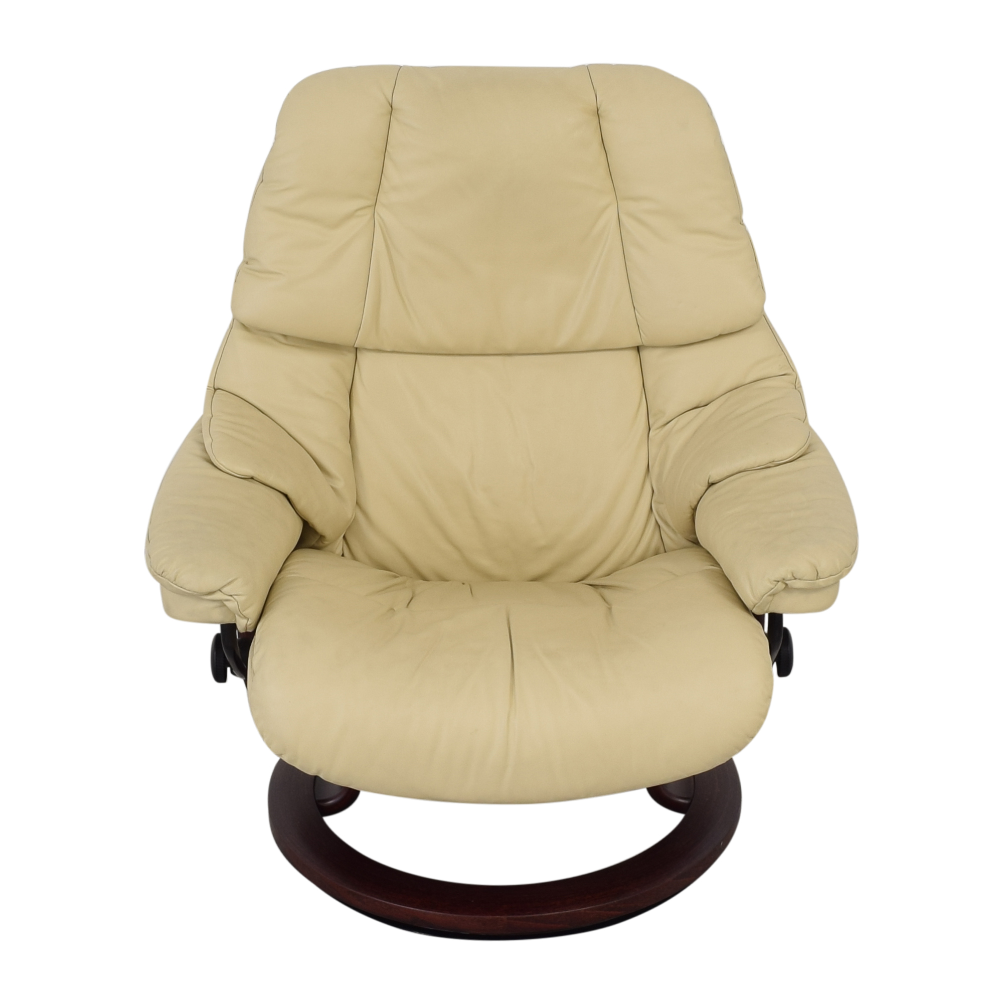 Ekornes Large Recliner and Footrest / Chairs