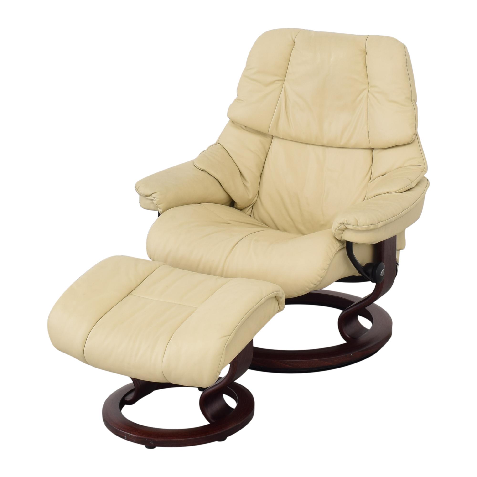 Ekornes Ekornes Large Recliner and Footrest Chairs
