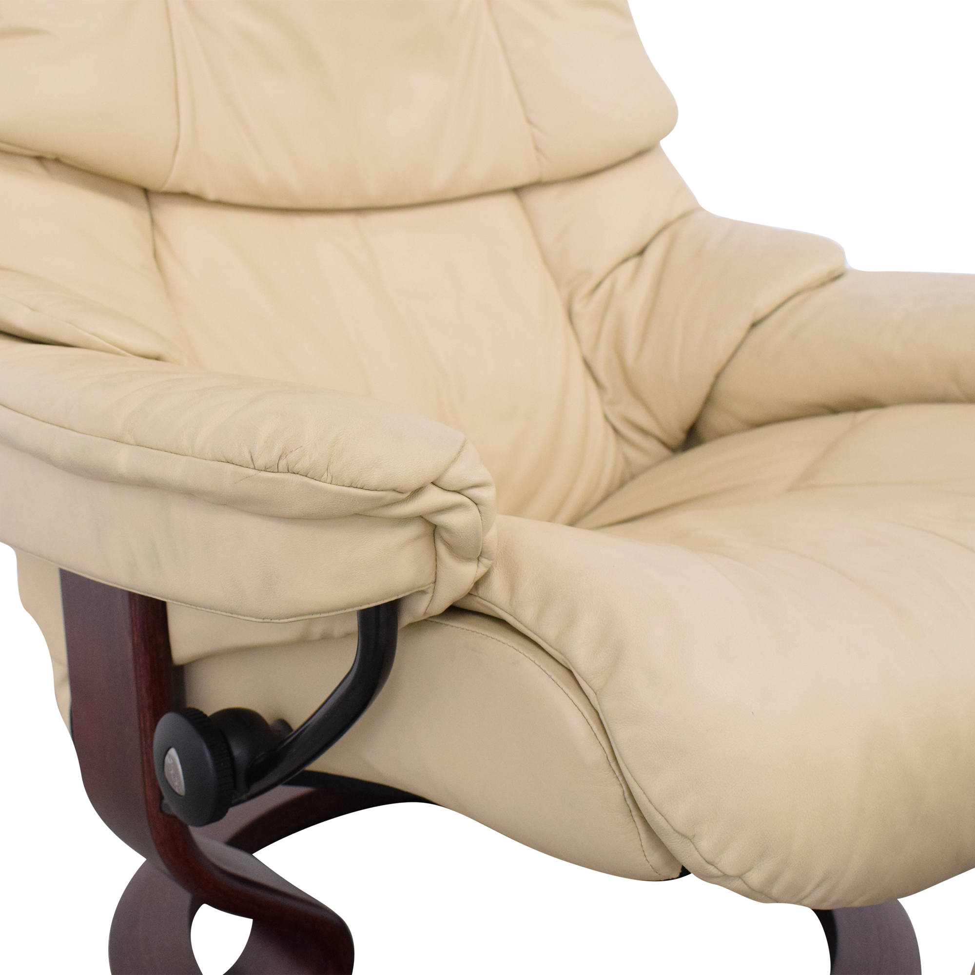 shop Ekornes Large Recliner and Footrest Ekornes Chairs