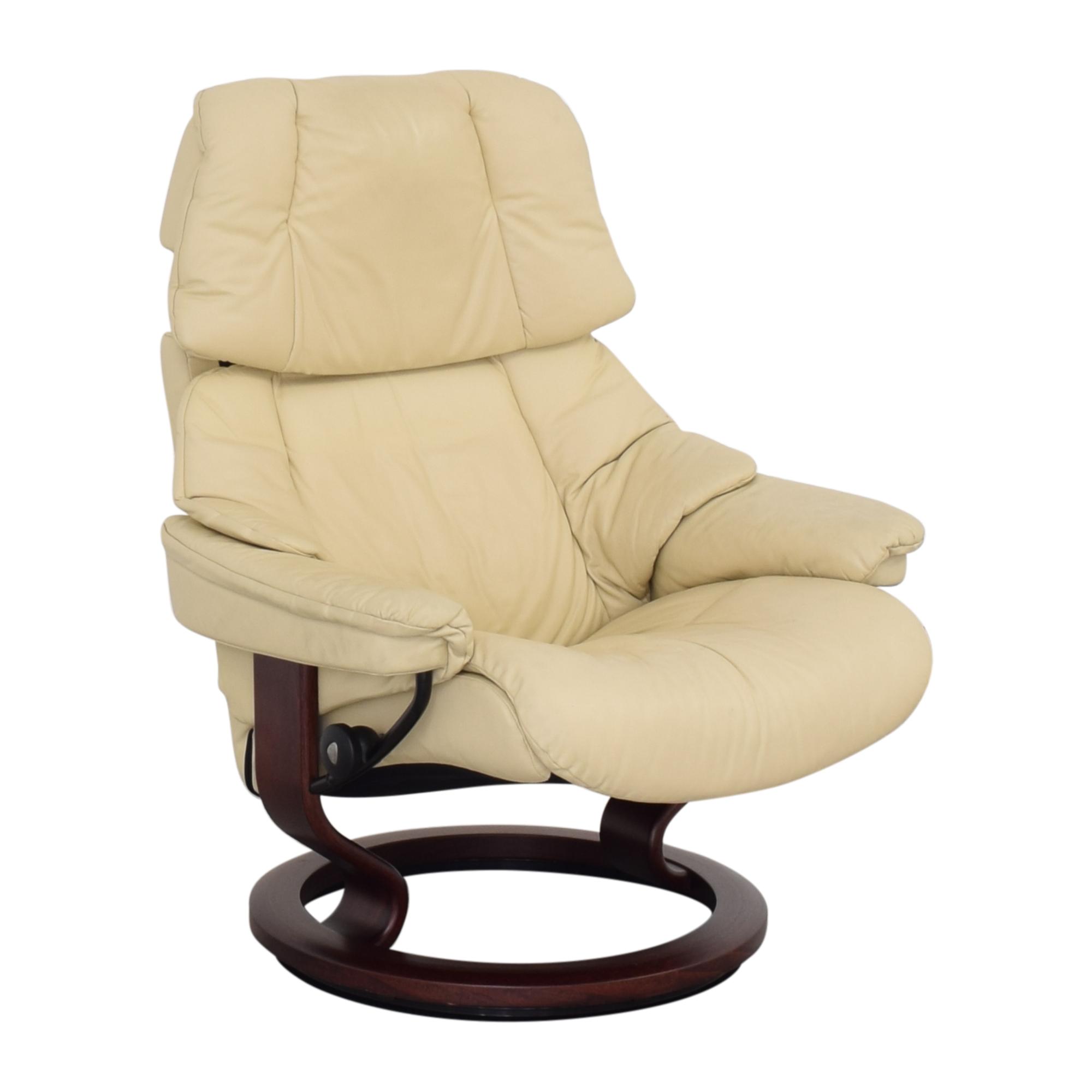 Ekornes Ekornes Large Recliner and Footrest on sale
