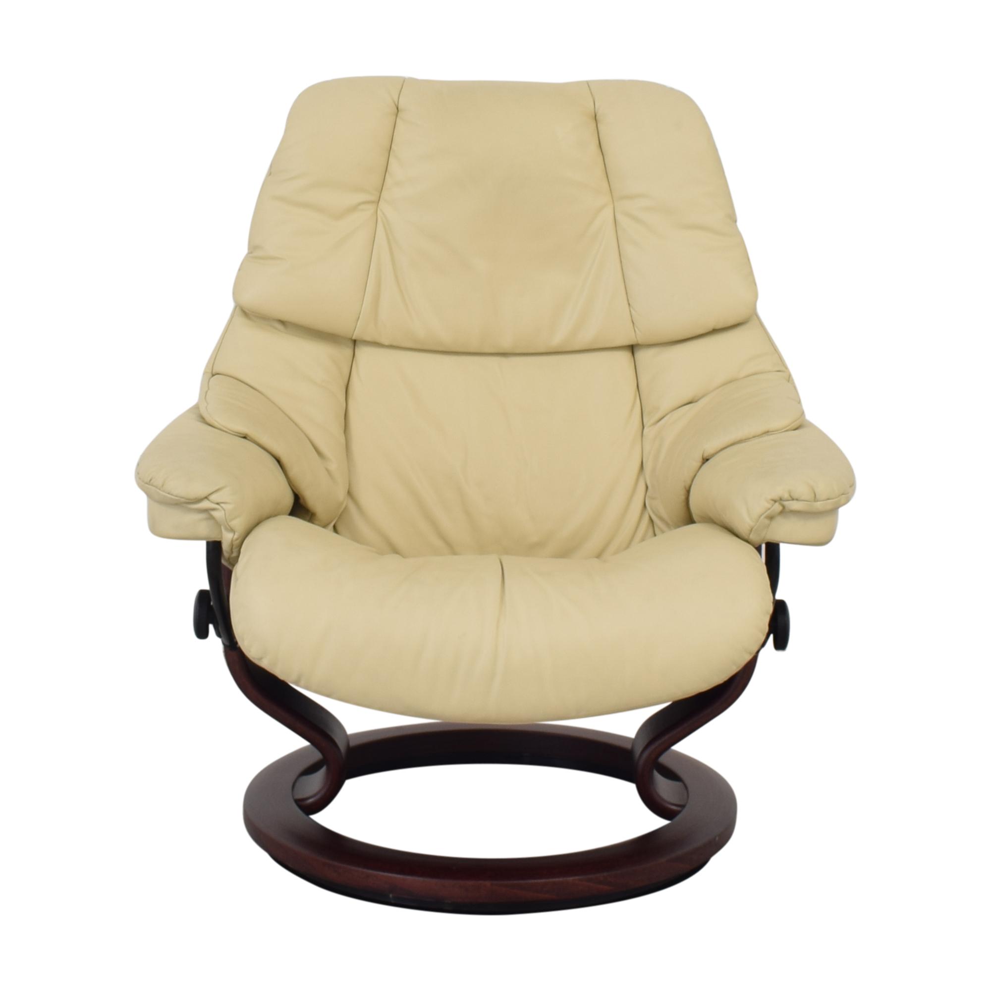 buy Ekornes Large Recliner and Footrest Ekornes Chairs