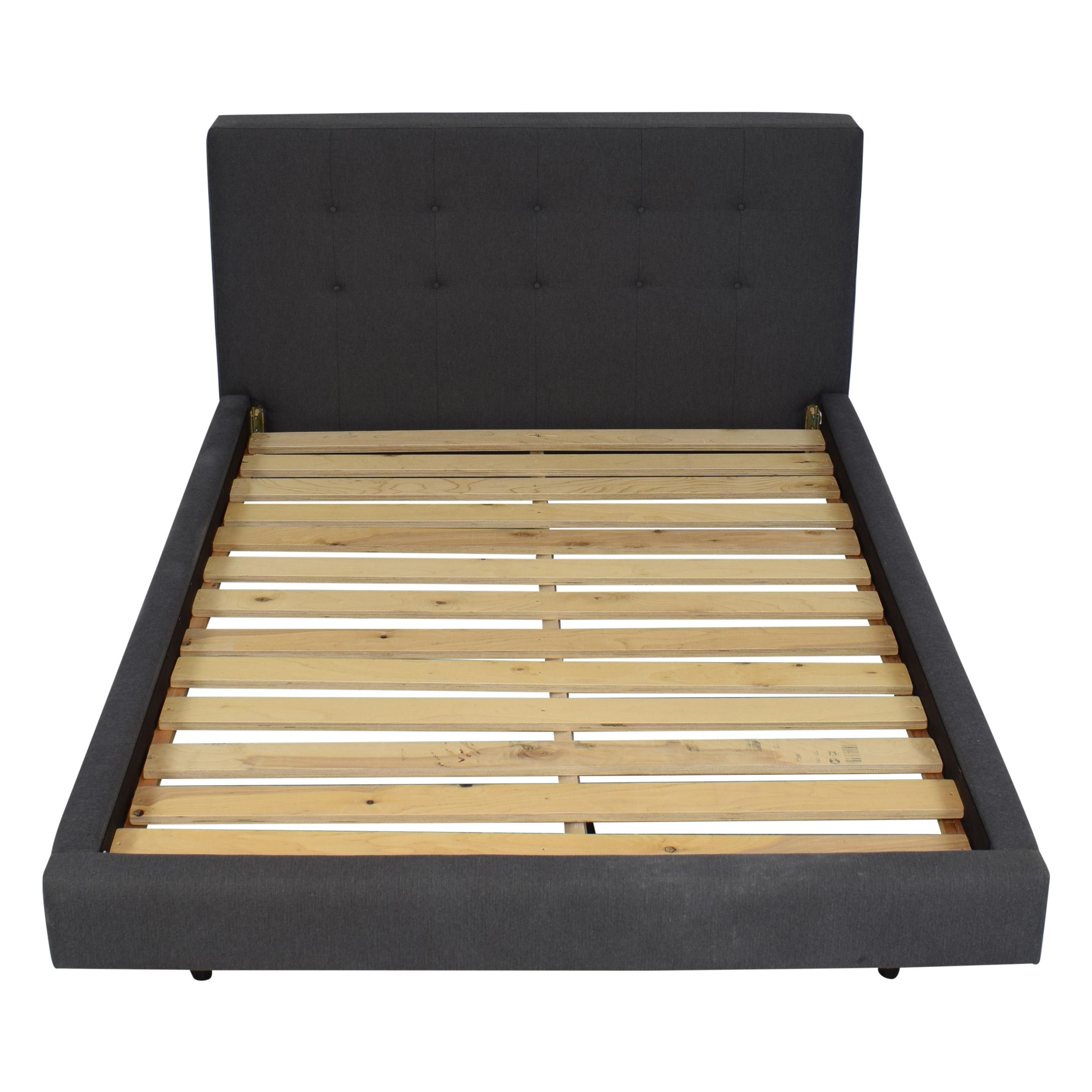 shop Crate & Barrel Tate Full Upholstered Bed Crate & Barrel Bed Frames