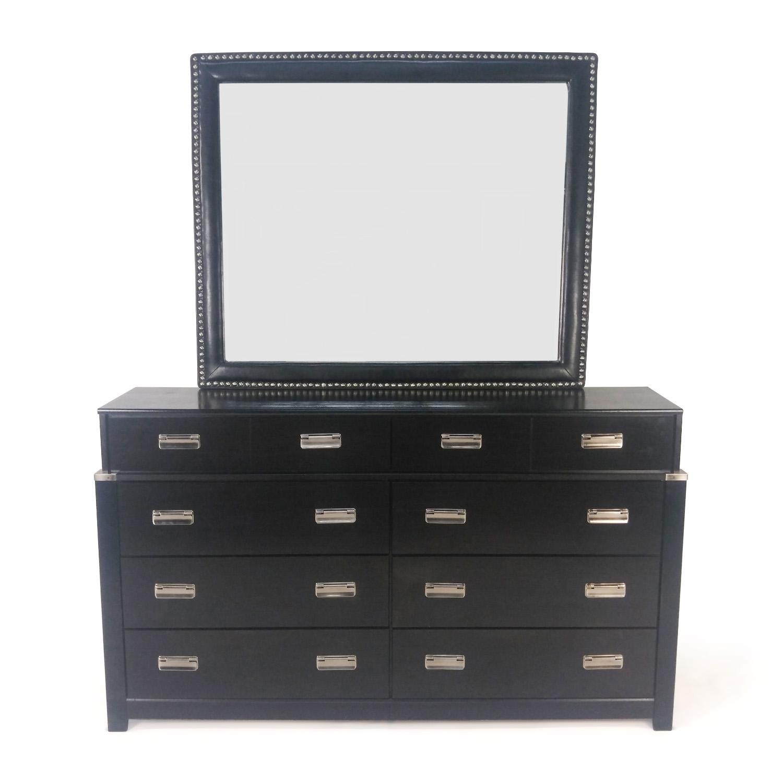 buy Maribel Espresso Dresser and Mirror Maribel Storage