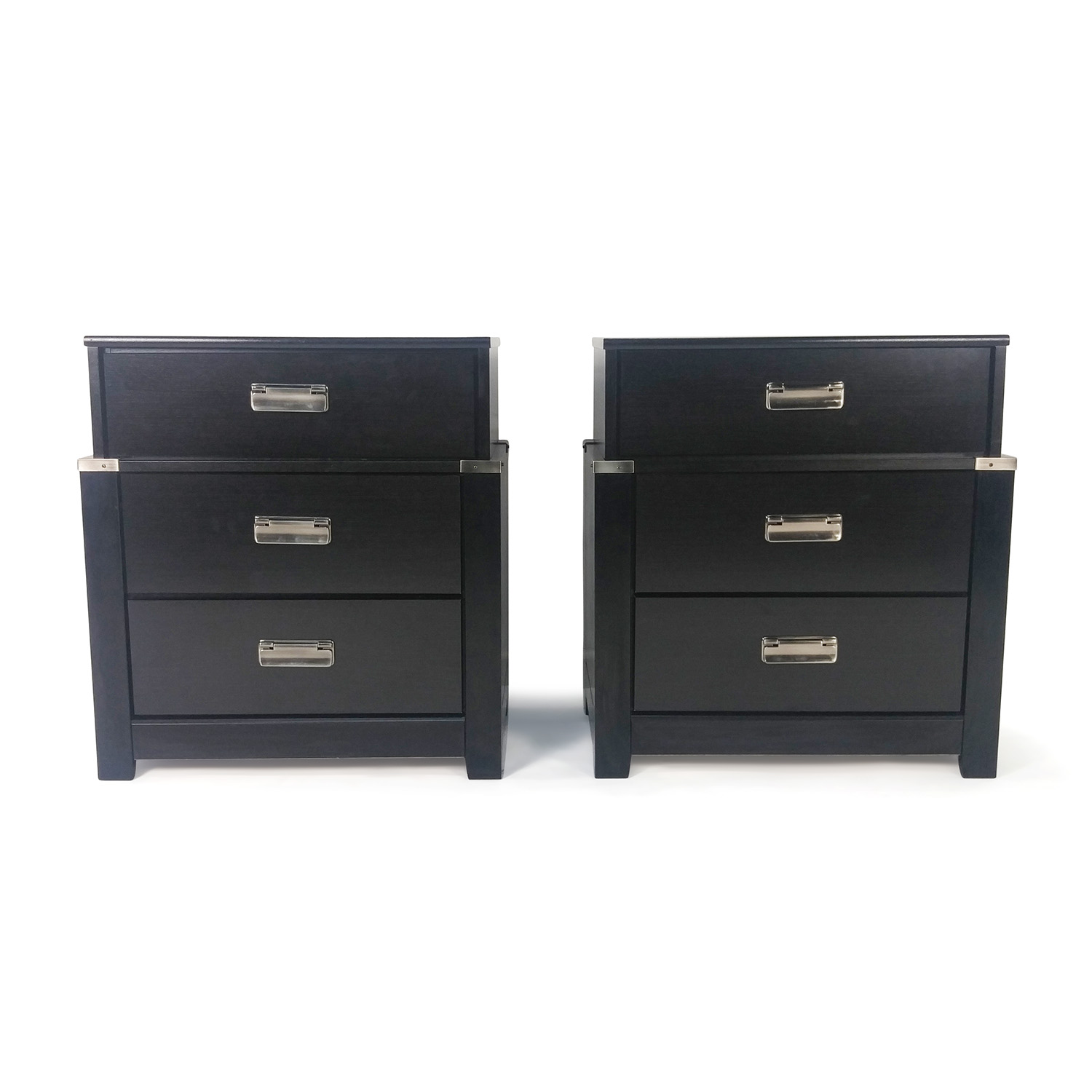 86 Off Ashley Furniture Set Of 2 Espresso Nightstands Tables