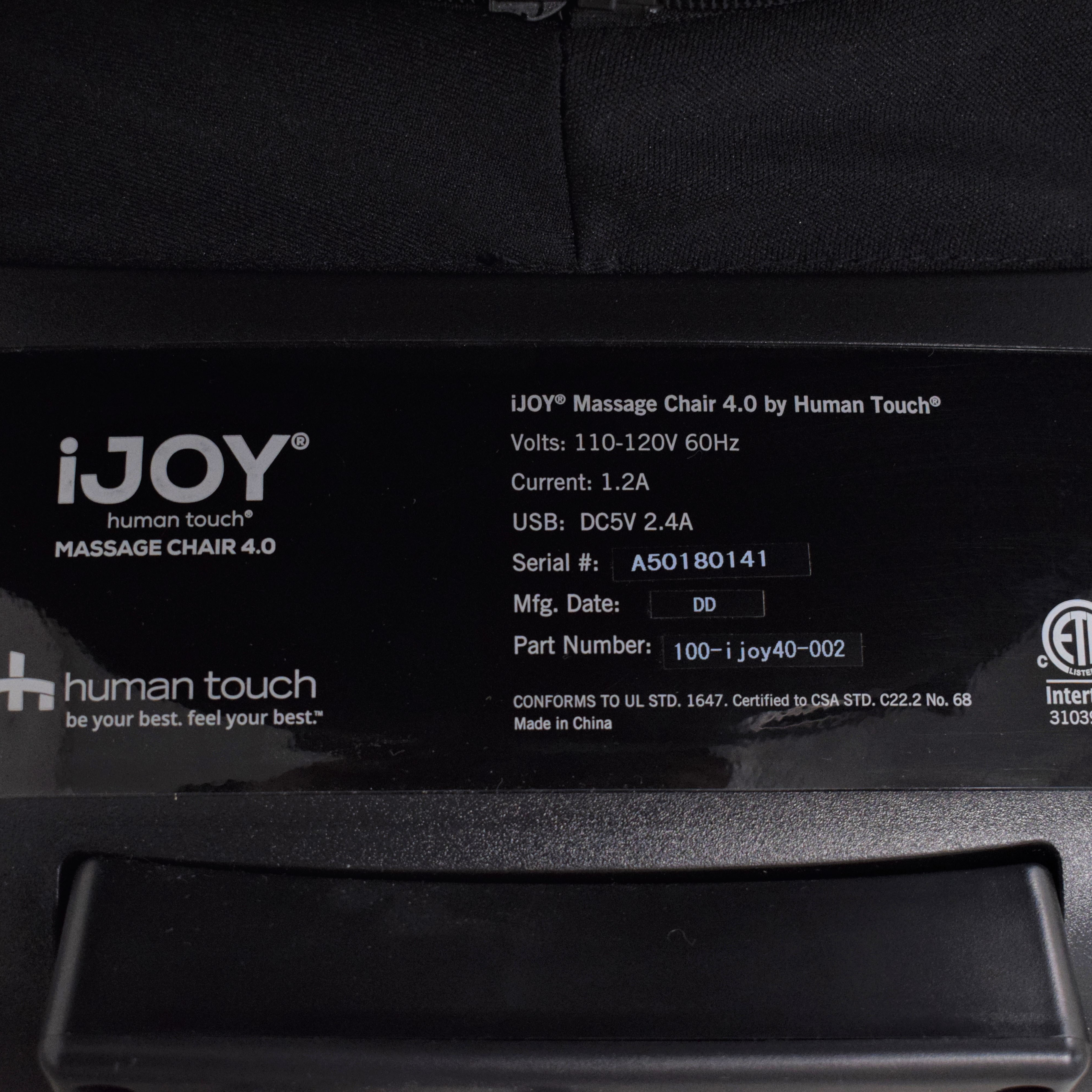 Human Touch Human Touch iJOY Massage Chair 4.0 Chairs